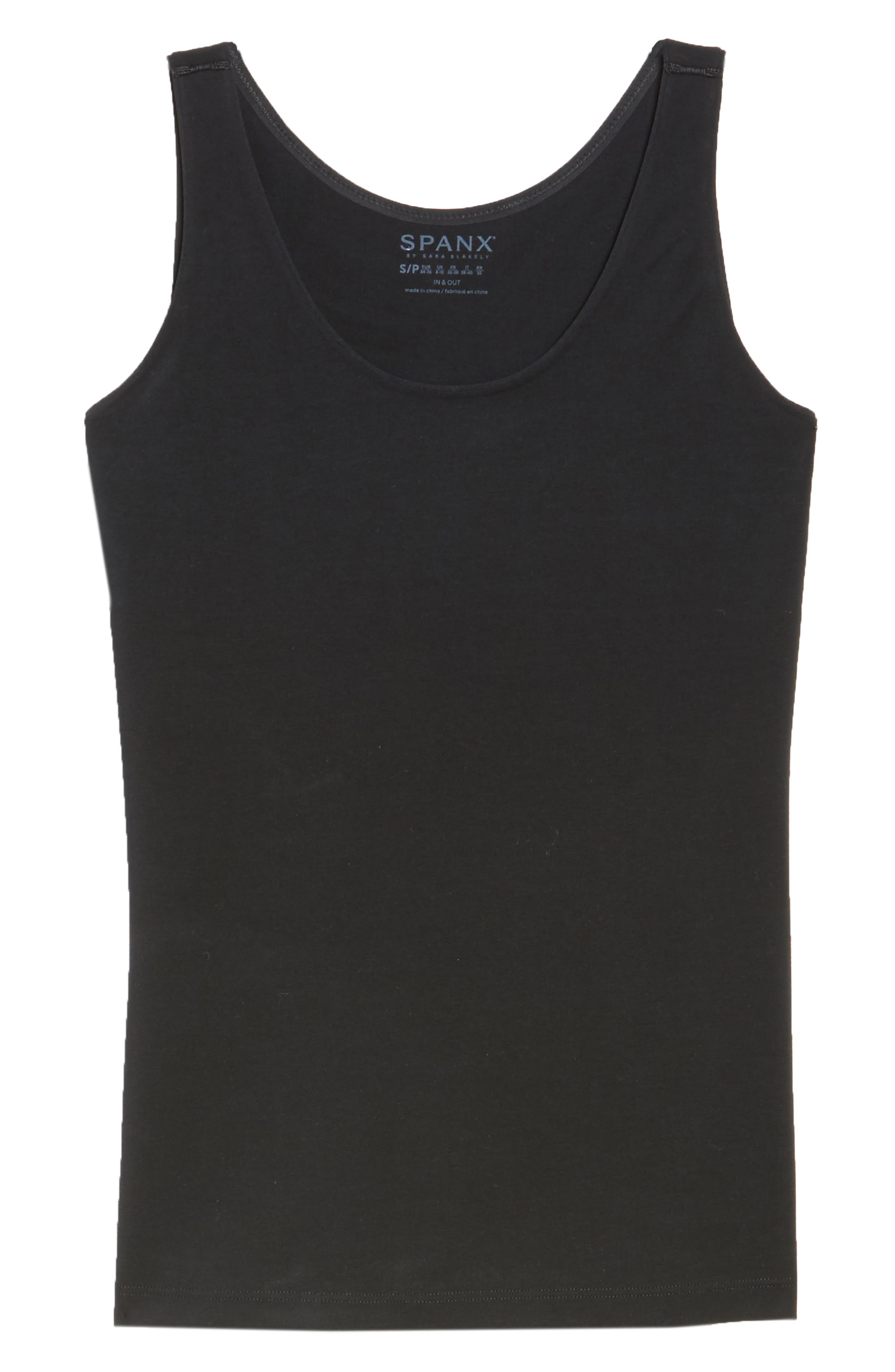 SPANX<SUP>®</SUP>, In & Out Tank, Alternate thumbnail 6, color, VERY BLACK