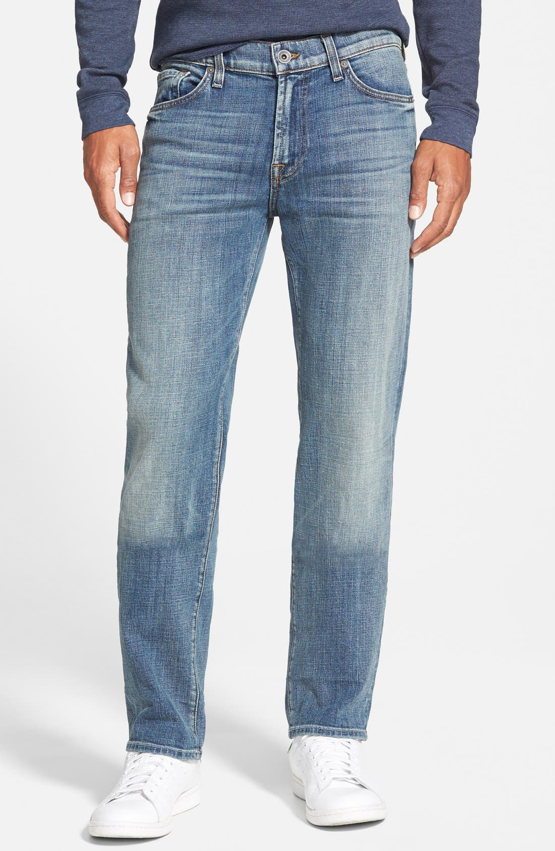 7 FOR ALL MANKIND<SUP>®</SUP>, 'Slimmy' Slim Fit Jeans, Main thumbnail 1, color, 400