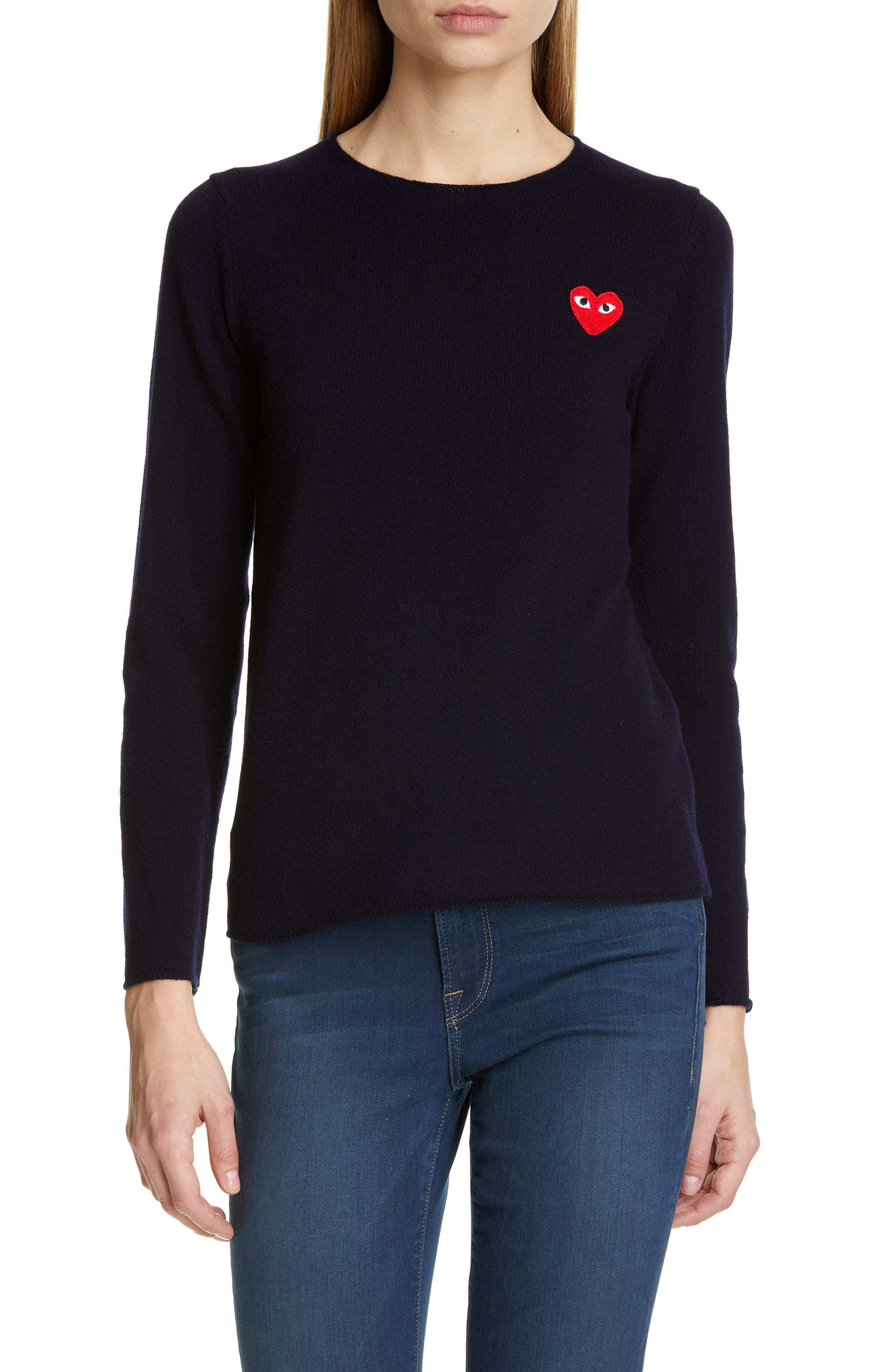 Comme Des Garcons Play Wool Sweater, Blue
