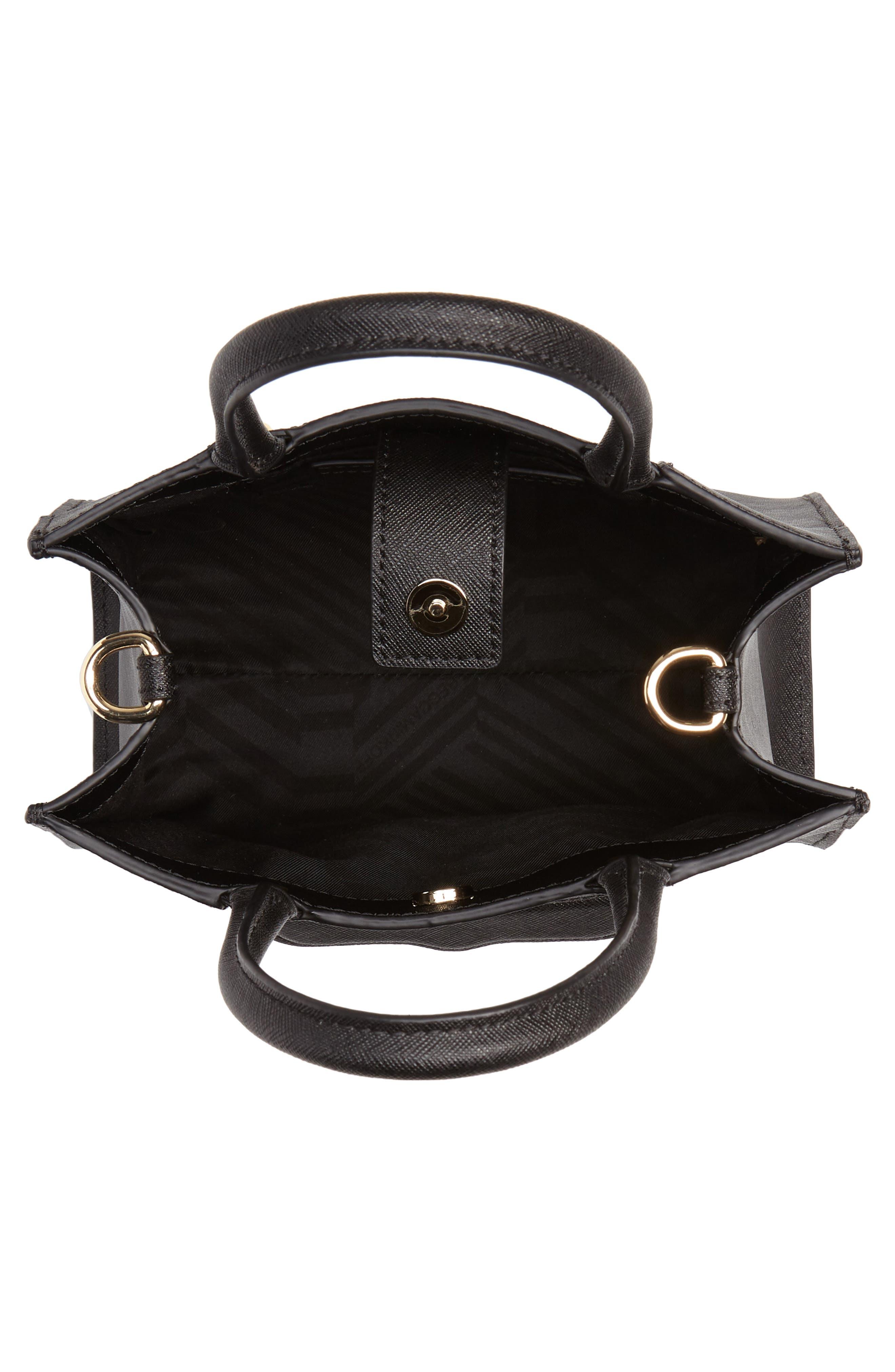 REBECCA MINKOFF, 'Mini MAB Tote' Crossbody Bag, Alternate thumbnail 4, color, 005