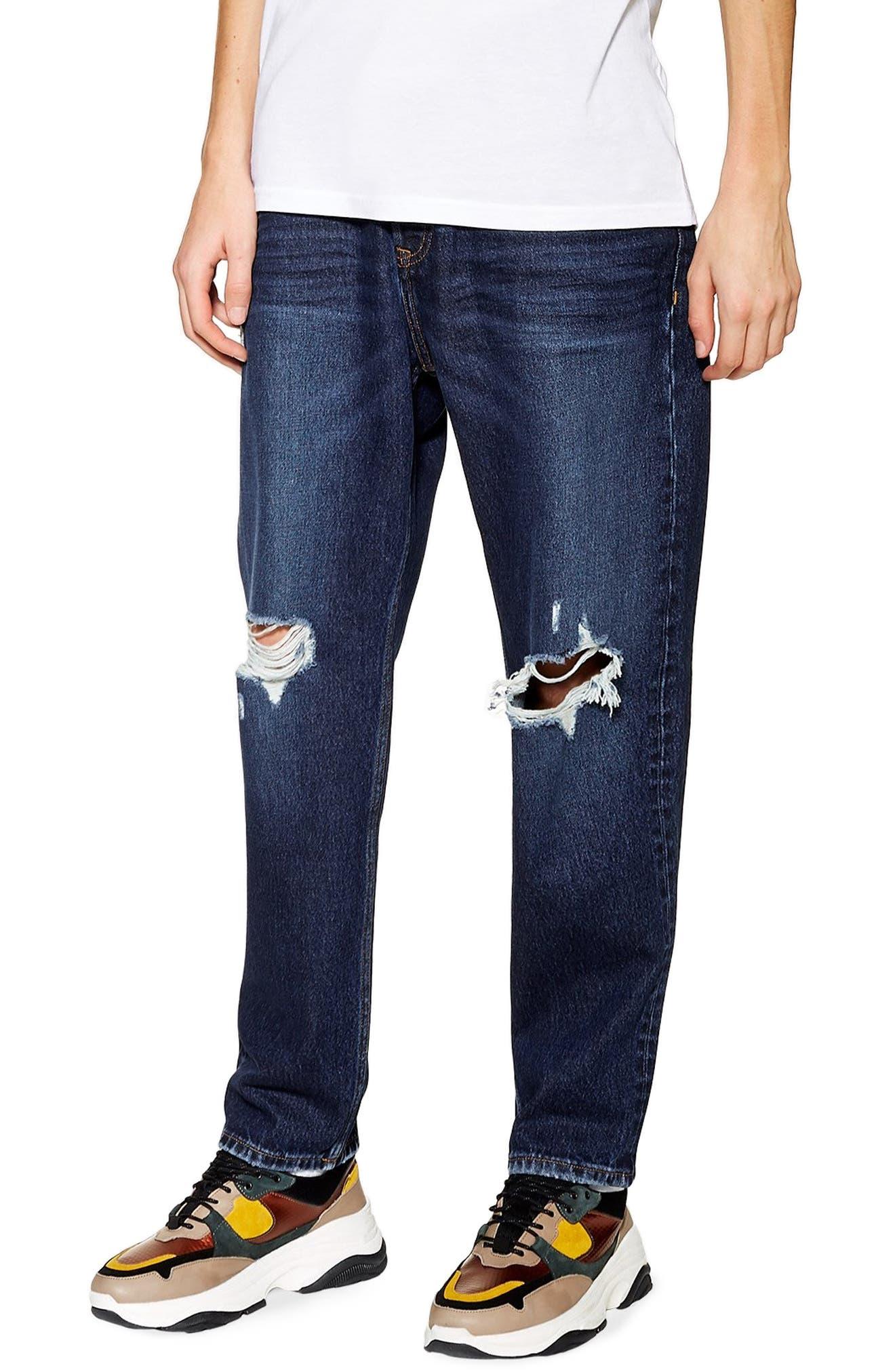 TOPMAN, Mikey Original Fit Jeans, Alternate thumbnail 4, color, 400
