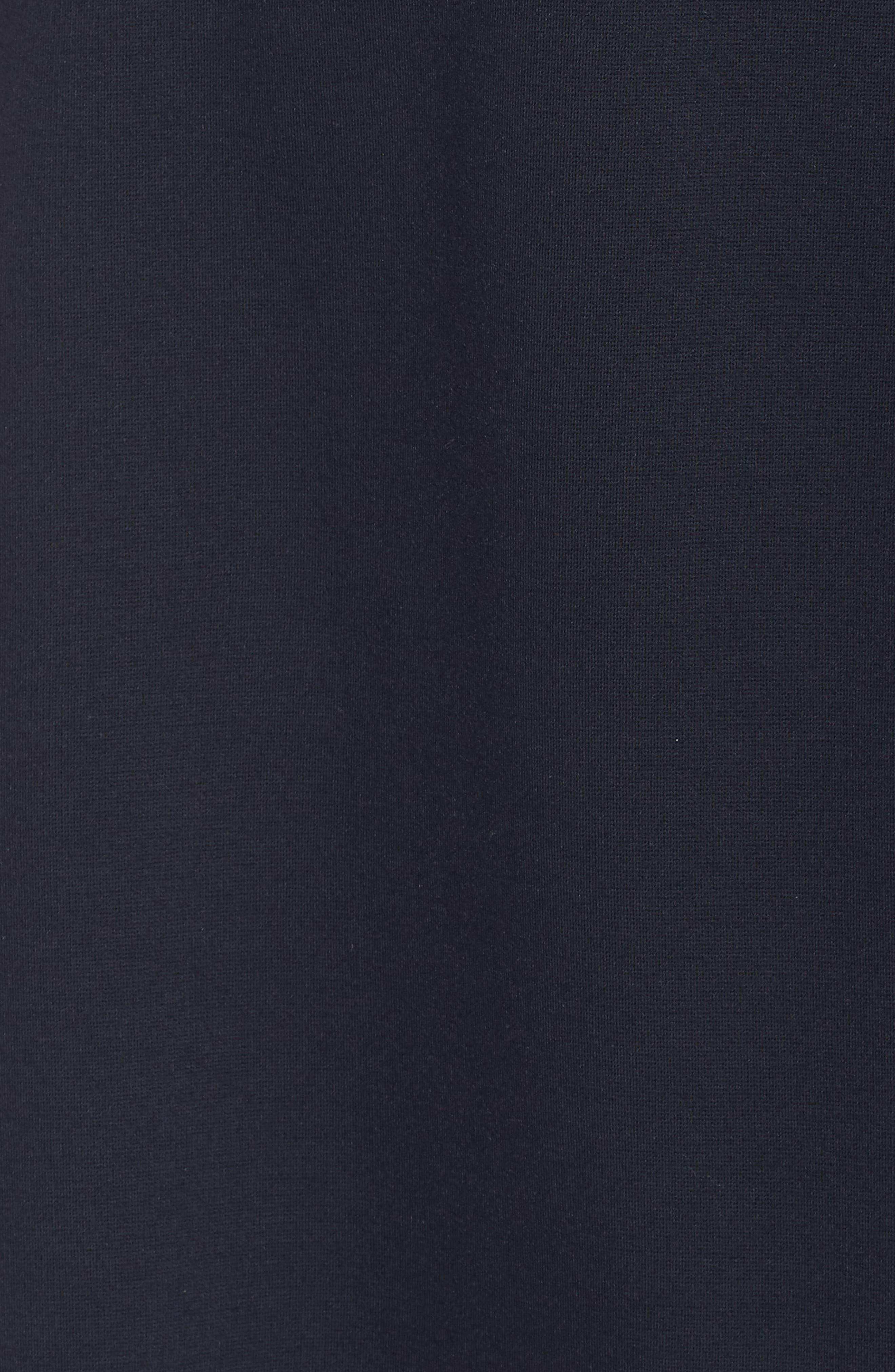 ELIZA J, Stripe Faux Wrap Dress, Alternate thumbnail 6, color, 410