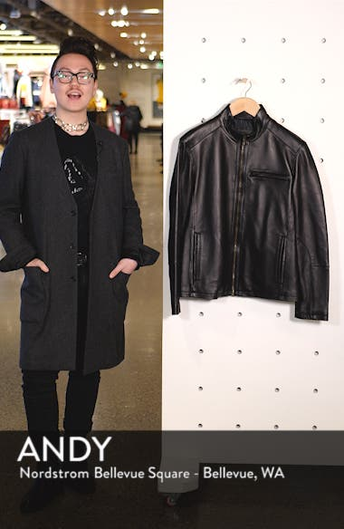 Lambskin Leather Moto Jacket, sales video thumbnail