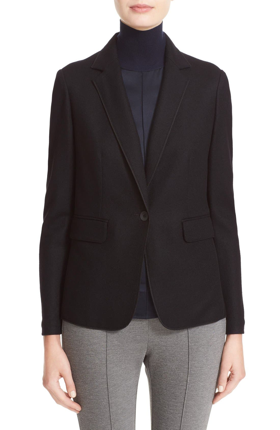 RAG & BONE, Club Wool Blazer, Main thumbnail 1, color, BLACK