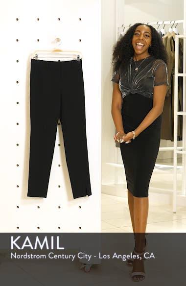 'Jennifer' Crepe Marocain Ankle Pants, sales video thumbnail