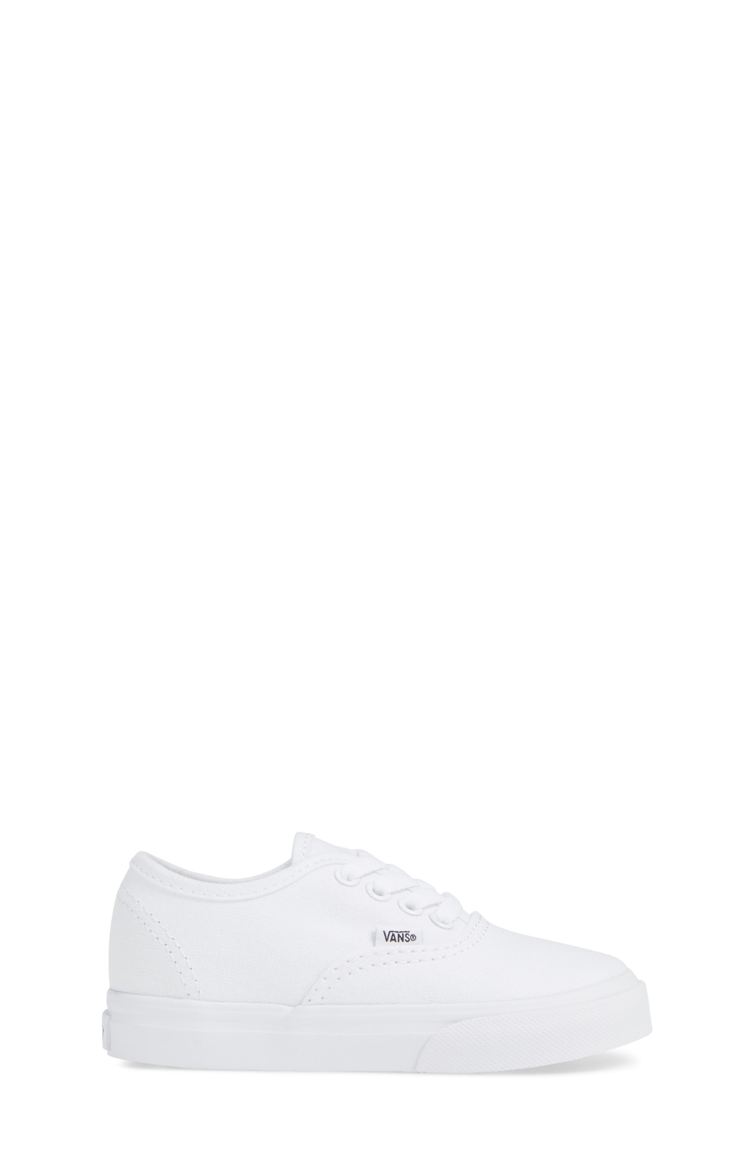 VANS, 'Authentic' Sneaker, Alternate thumbnail 3, color, TRUE WHITE/ WHITE