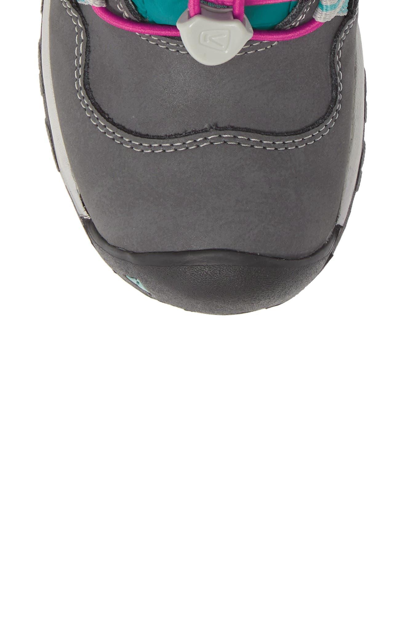 KEEN, Hoodoo Waterproof Insulated Boot, Alternate thumbnail 5, color, STEEL GREY/ CABARET