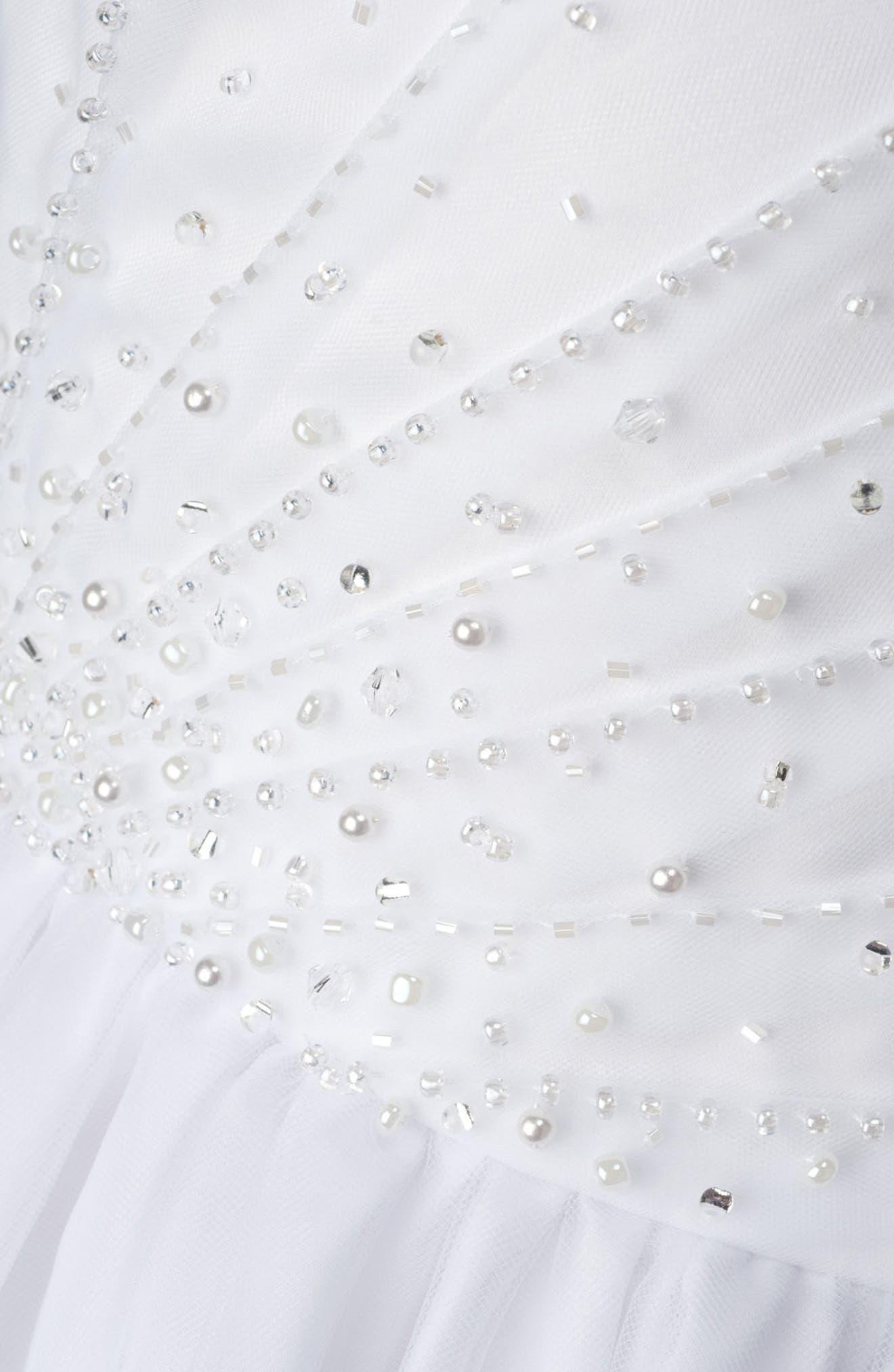 LAUREN MARIE, Beaded First Communion Dress, Alternate thumbnail 4, color, WHITE
