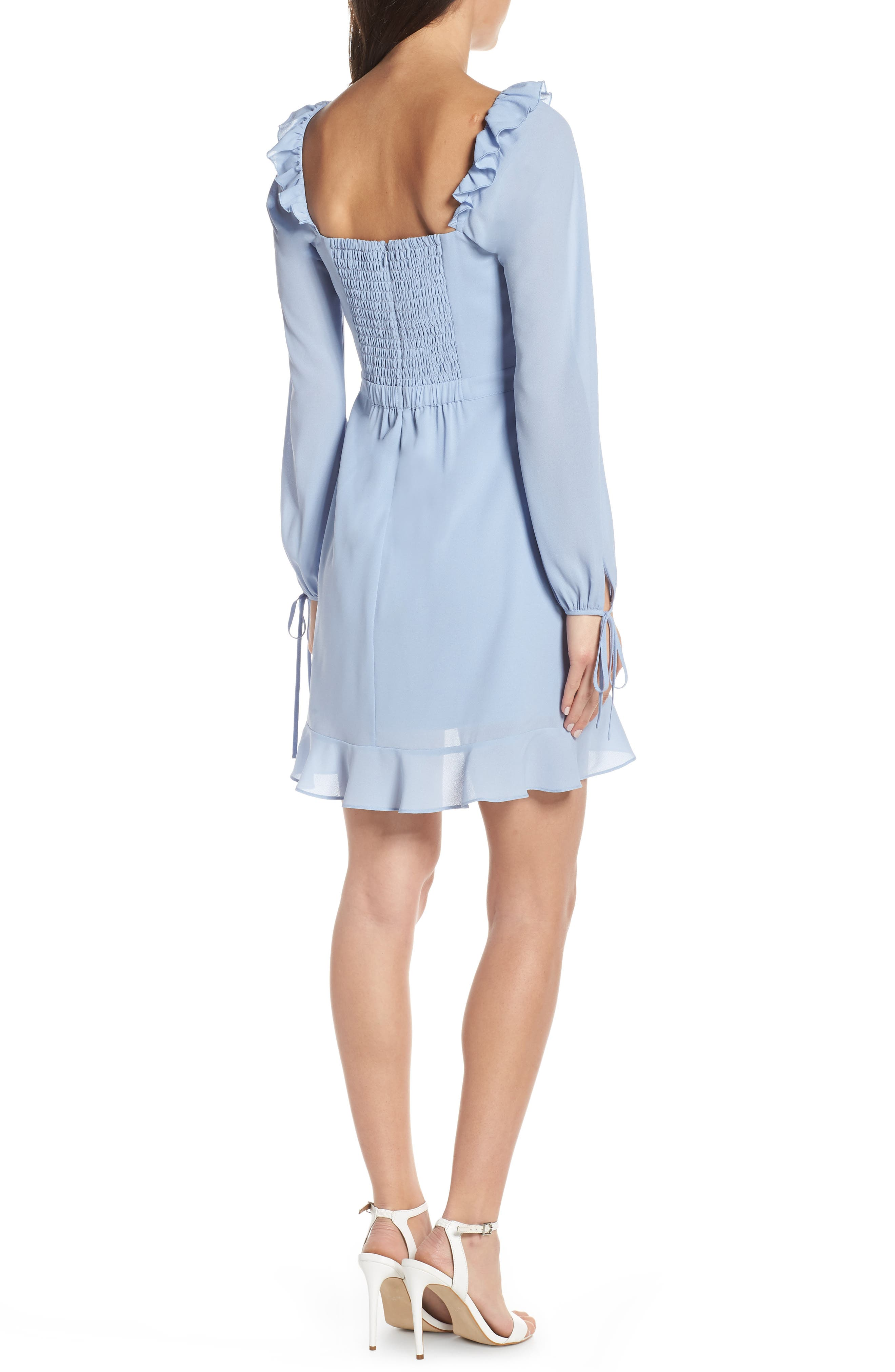 ALI & JAY, In Bloom Georgette Asymmetrical Dress, Alternate thumbnail 2, color, CHAMBRAY