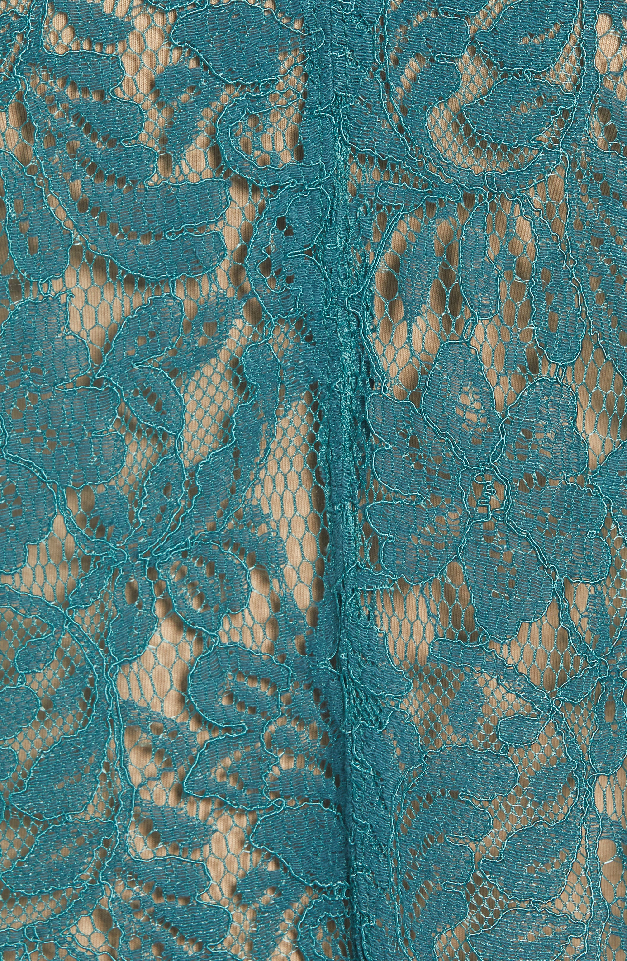CHELSEA28, Lace Top, Alternate thumbnail 5, color, TEAL BALSAM