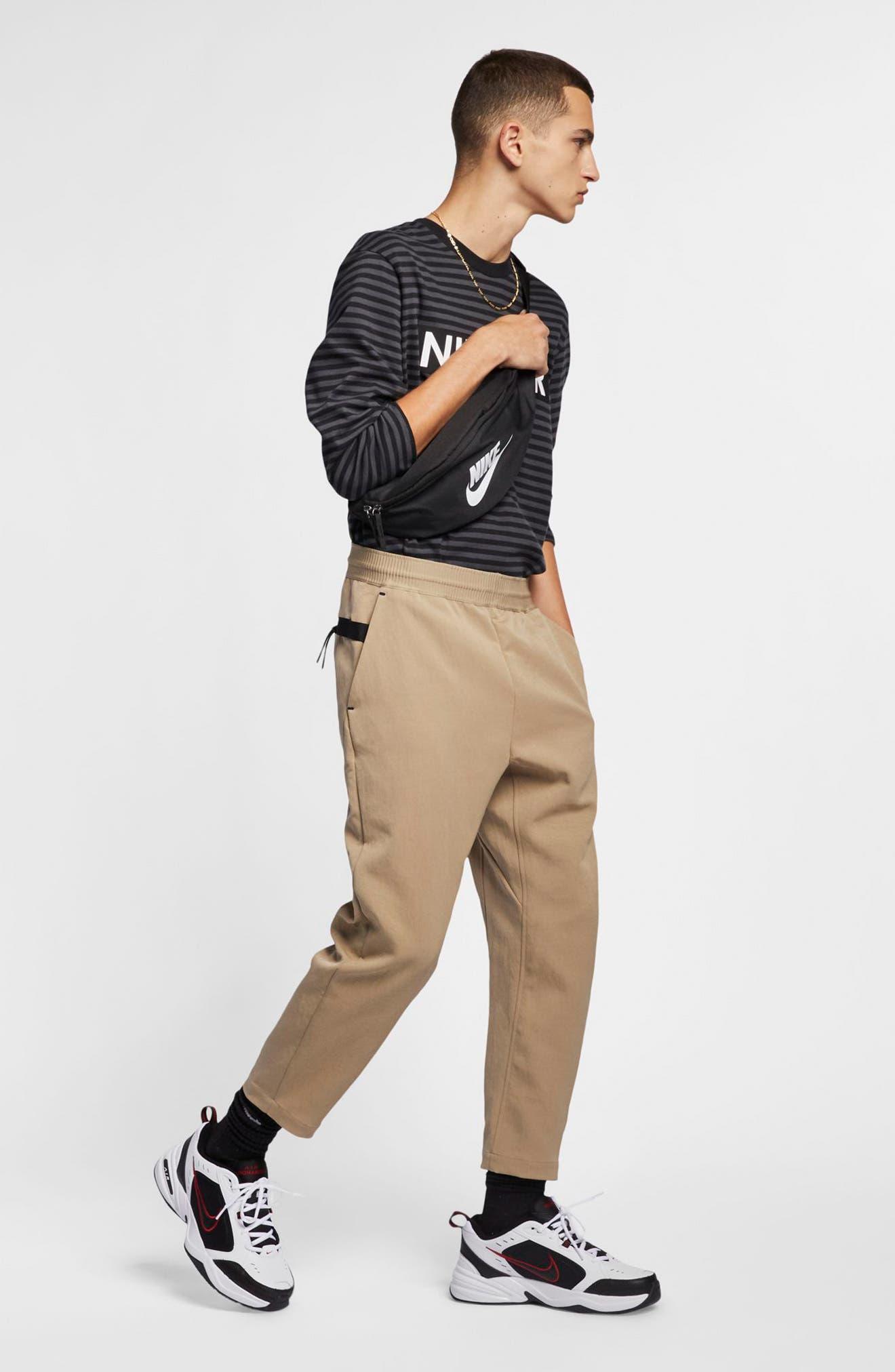 NIKE, Sportswear Tech Pack Men's Crop Woven Pants, Alternate thumbnail 8, color, KHAKI/ KHAKI/ BLACK
