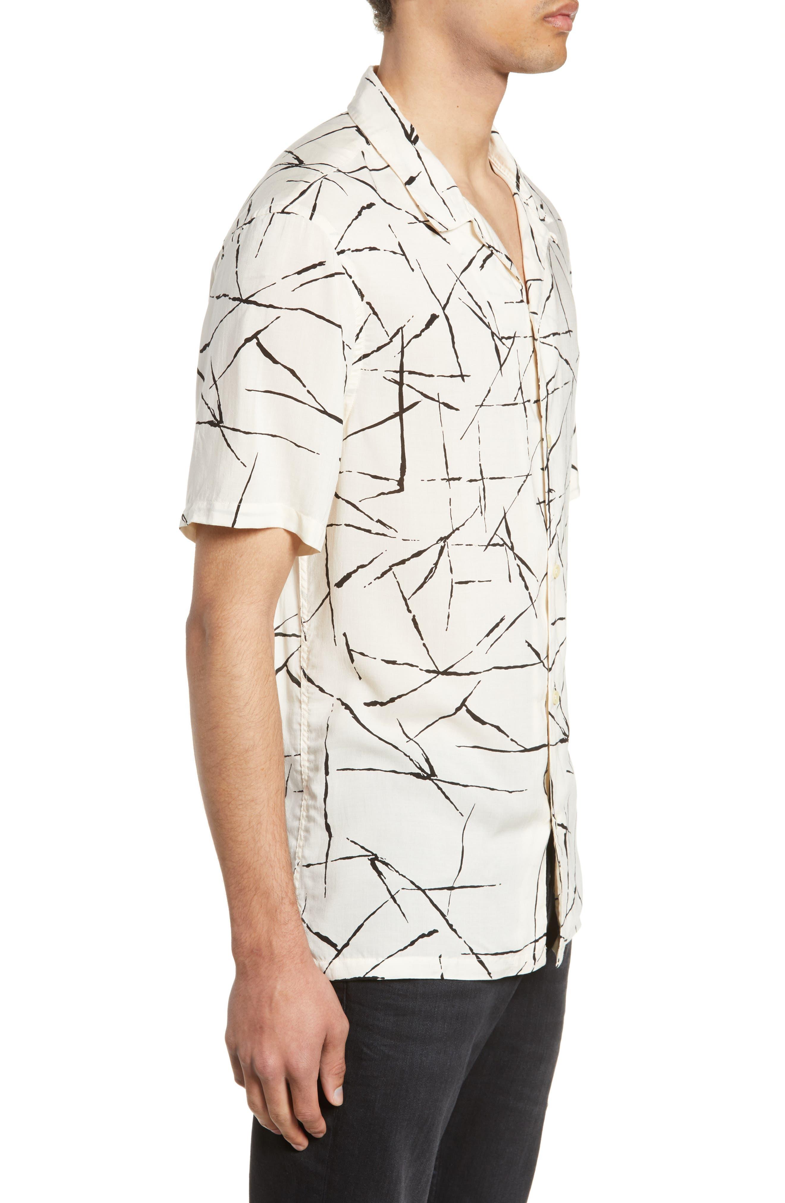 ALLSAINTS, Burma Classic Shirt, Alternate thumbnail 4, color, ECRU WHITE