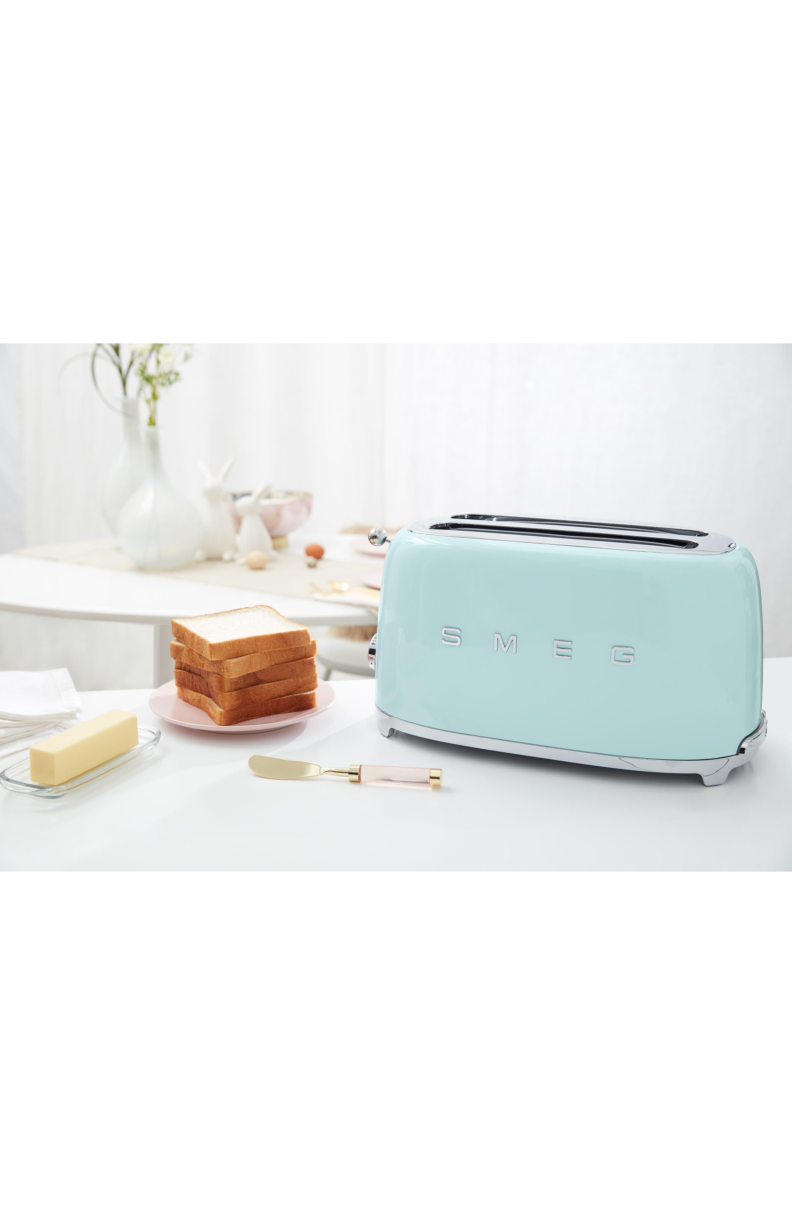 SMEG, 50s Retro Style Four-Slice Toaster, Alternate thumbnail 4, color, PASTEL BLUE