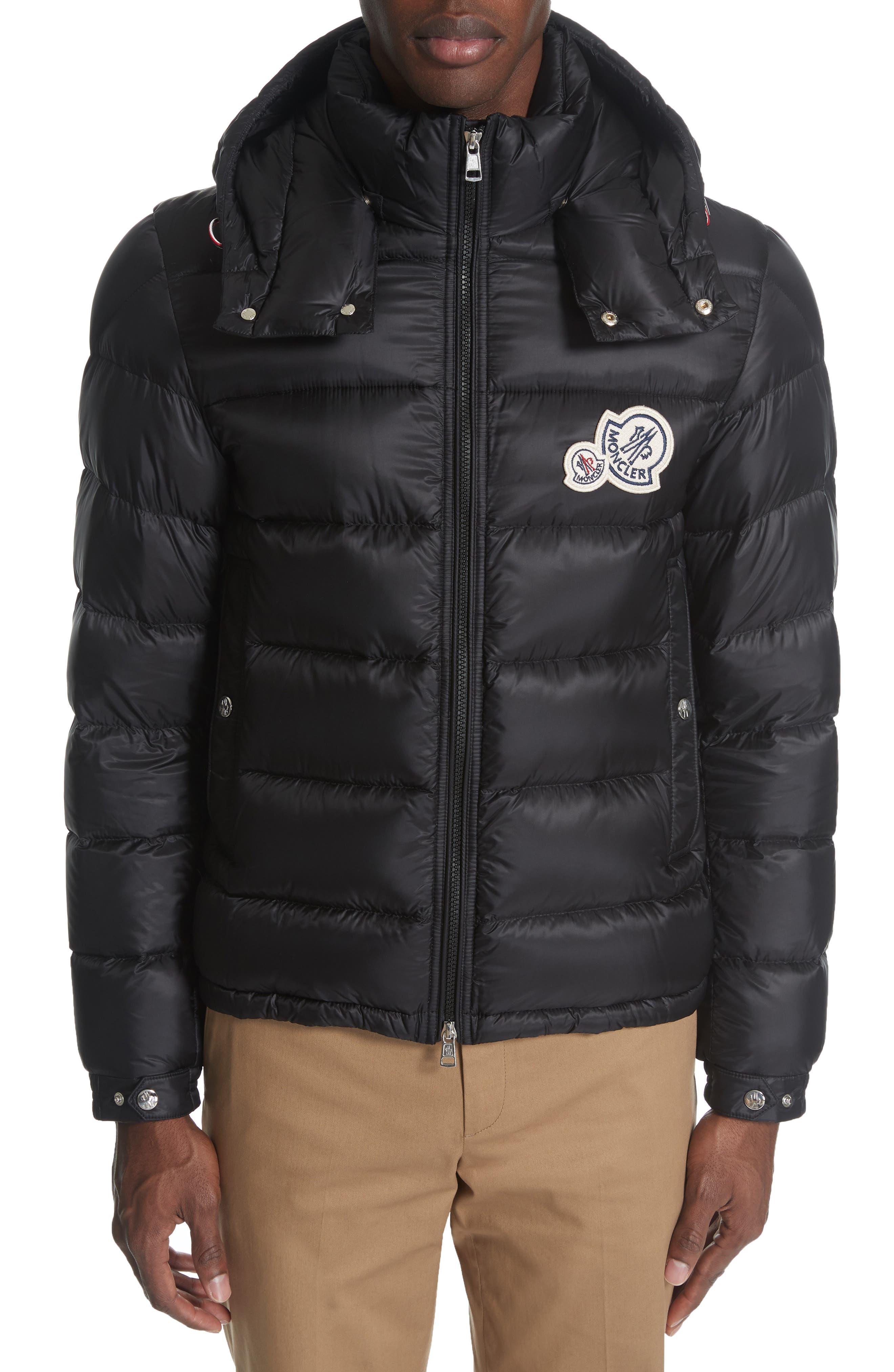 MONCLER Bramant Down Jacket, Main, color, BLACK