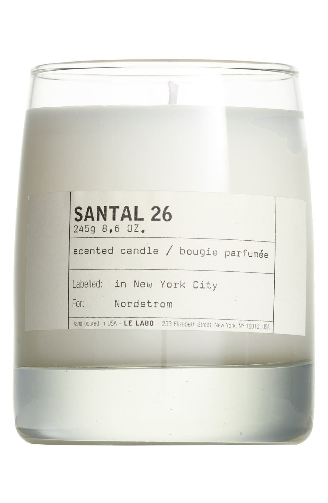LE LABO Santal 26 Classic Candle, Main, color, NO COLOR