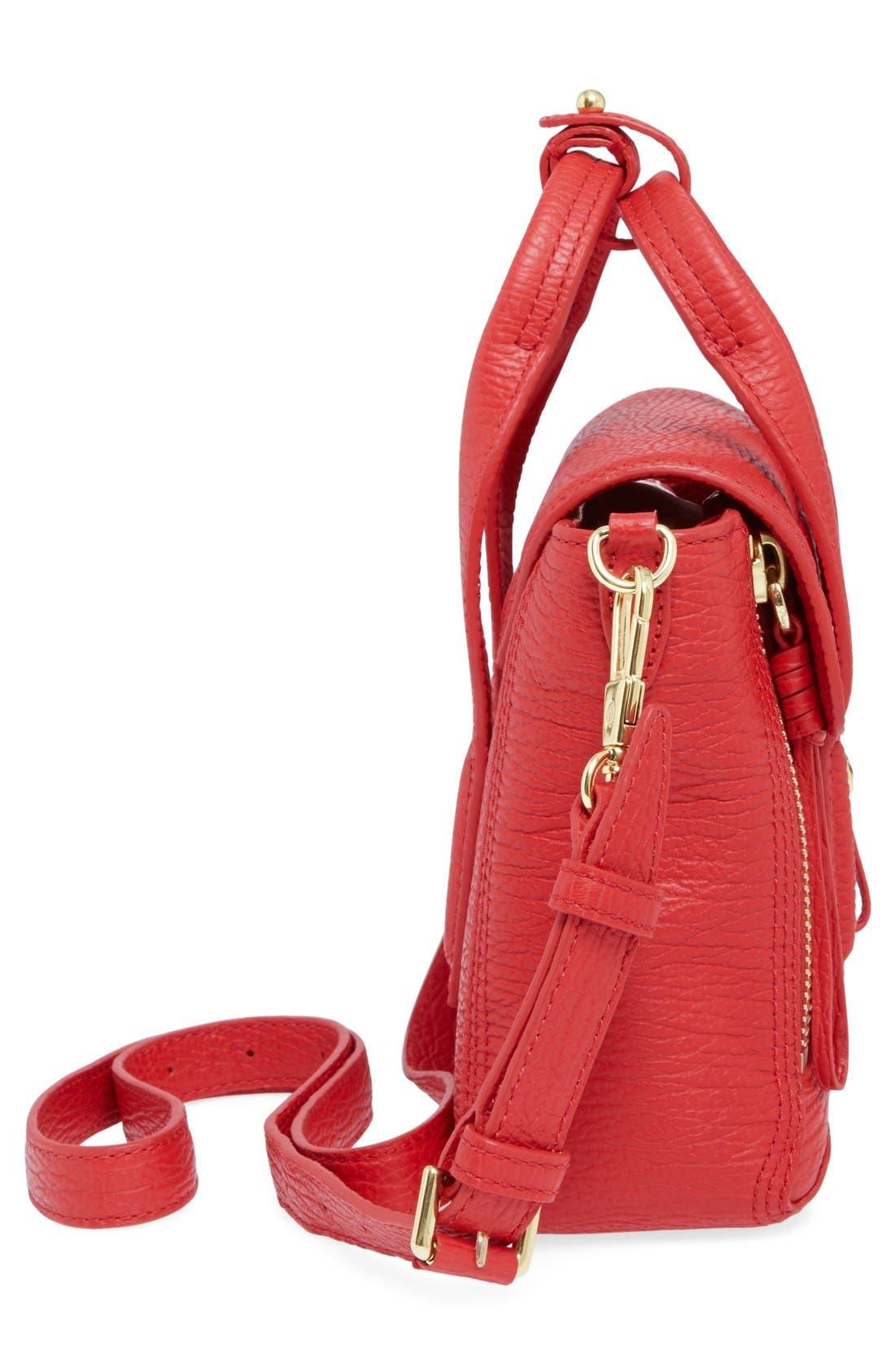 3.1 PHILLIP LIM, 'Mini Pashli' Leather Satchel, Alternate thumbnail 5, color, 600