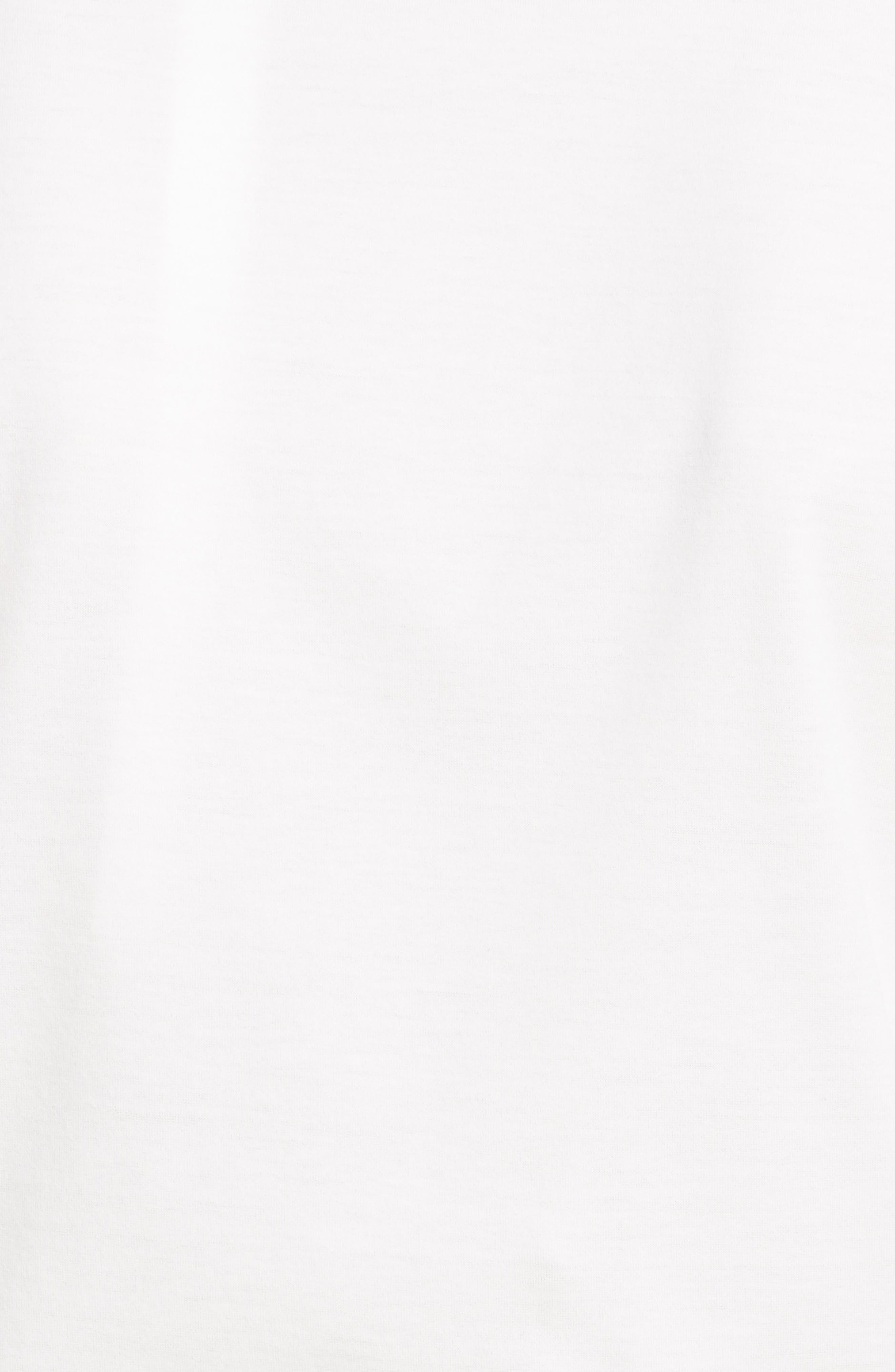 MONCLER GENIUS BY MONCLER, x 4 Simone Rocha Imitation Pearl Embellished Tee, Alternate thumbnail 5, color, WHITE