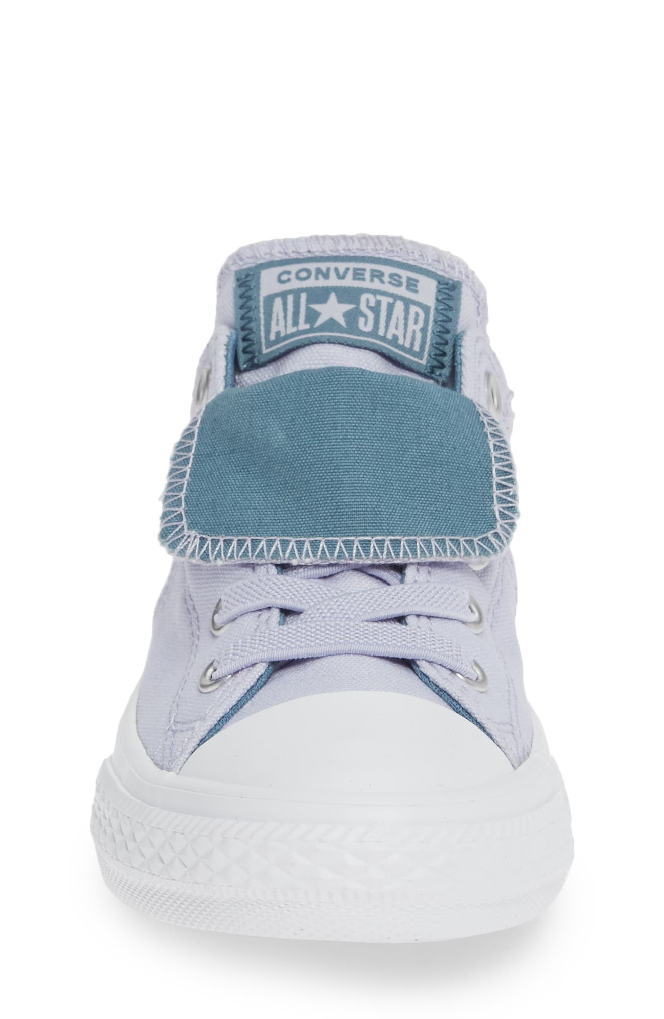 CONVERSE, Chuck Taylor<sup>®</sup> All Star<sup>®</sup> Maddie Double Tongue Sneaker, Alternate thumbnail 4, color, OXYGEN PURPLE/ CELESTIAL TEAL