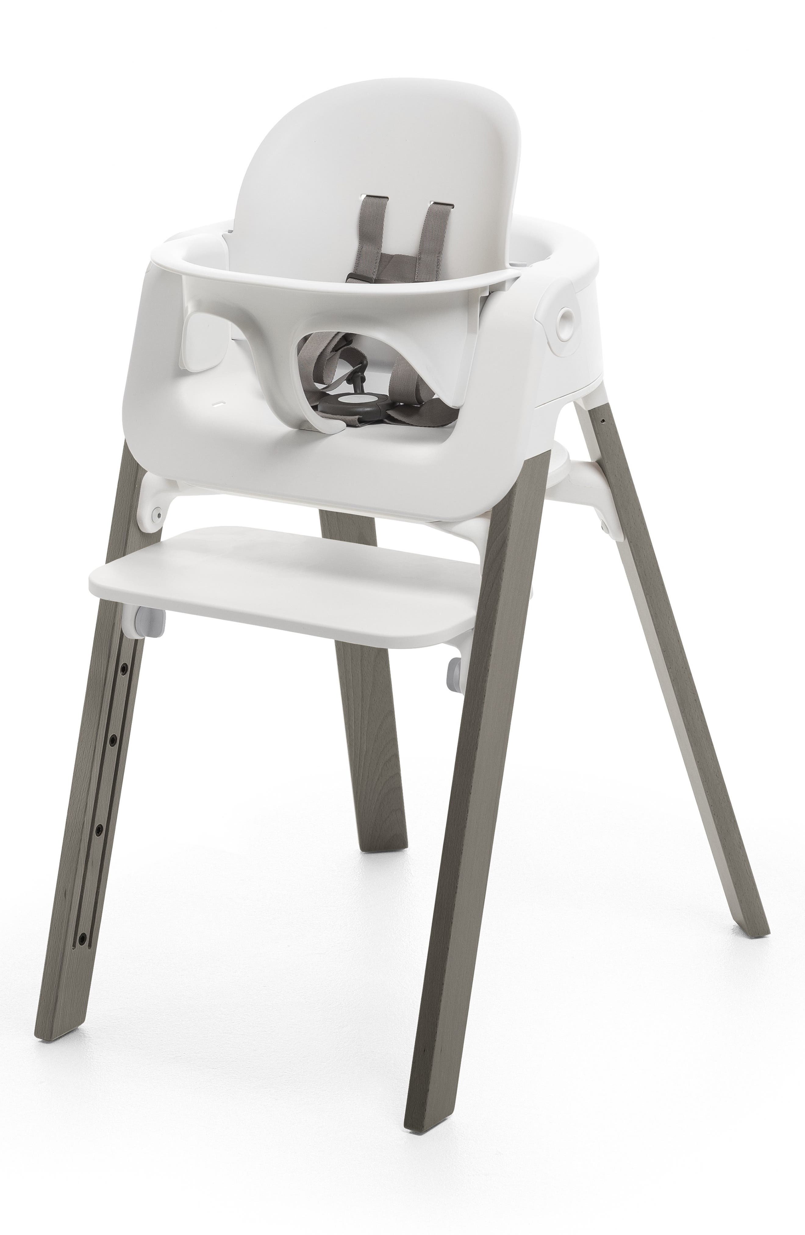 STOKKE, Steps<sup>™</sup> High Chair & Tray, Alternate thumbnail 4, color, GREY