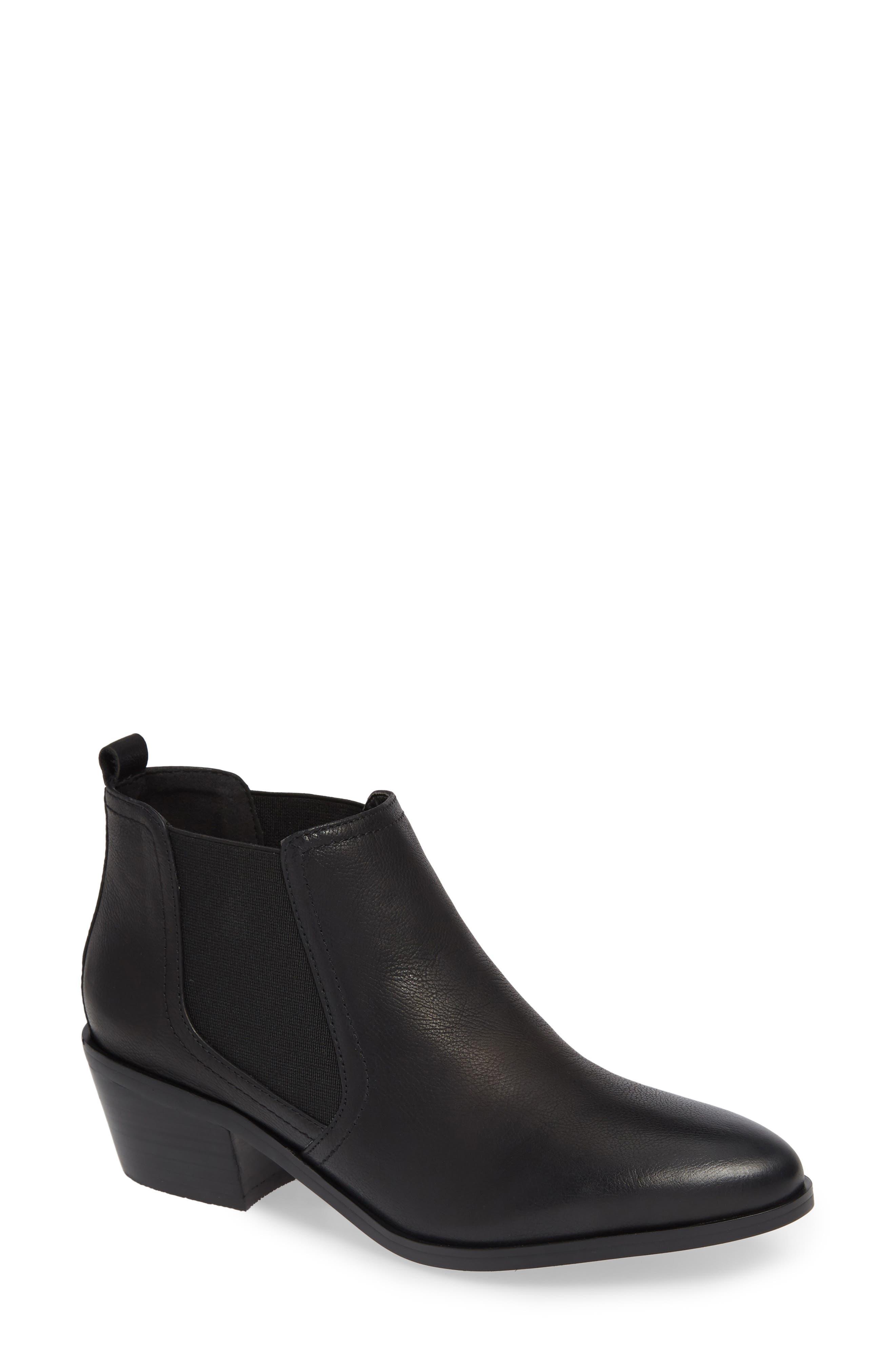 DAVID TATE Maxie Chelsea Boot, Main, color, BLACK LEATHER