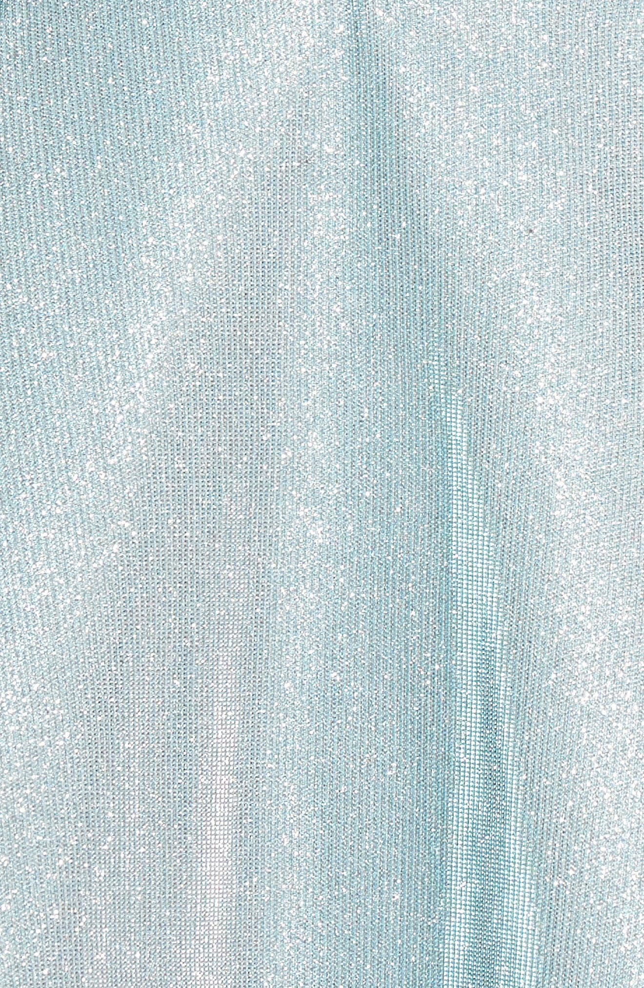 IEENA FOR MAC DUGGAL, Mac Duggal Shimmer Fit & Flare Dress, Alternate thumbnail 6, color, SHIMMERING ICE