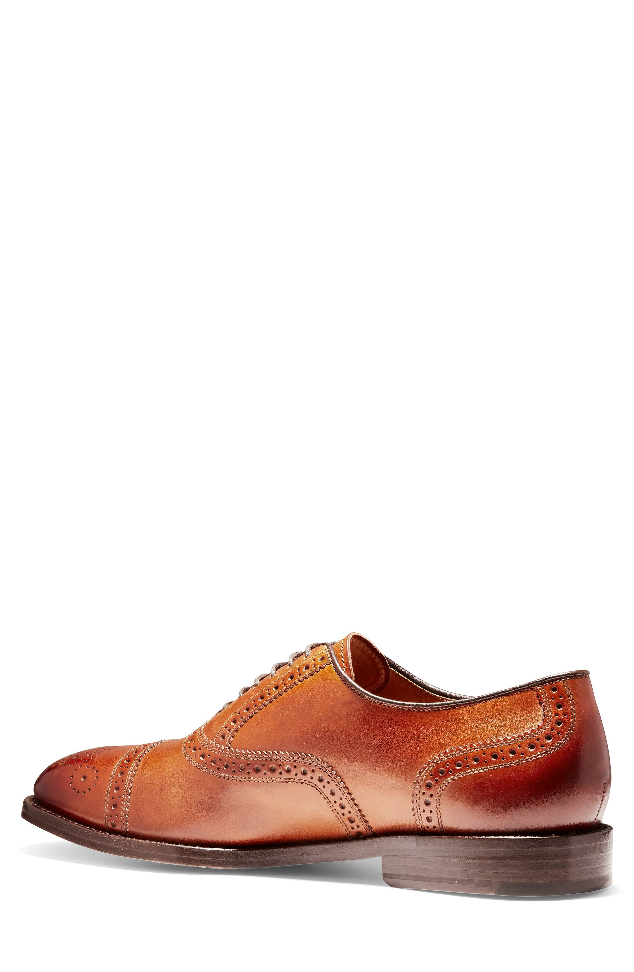 COLE HAAN, American Classics Kneeland Cap Toe Oxford, Alternate thumbnail 2, color, BRITISH TAN LEATHER