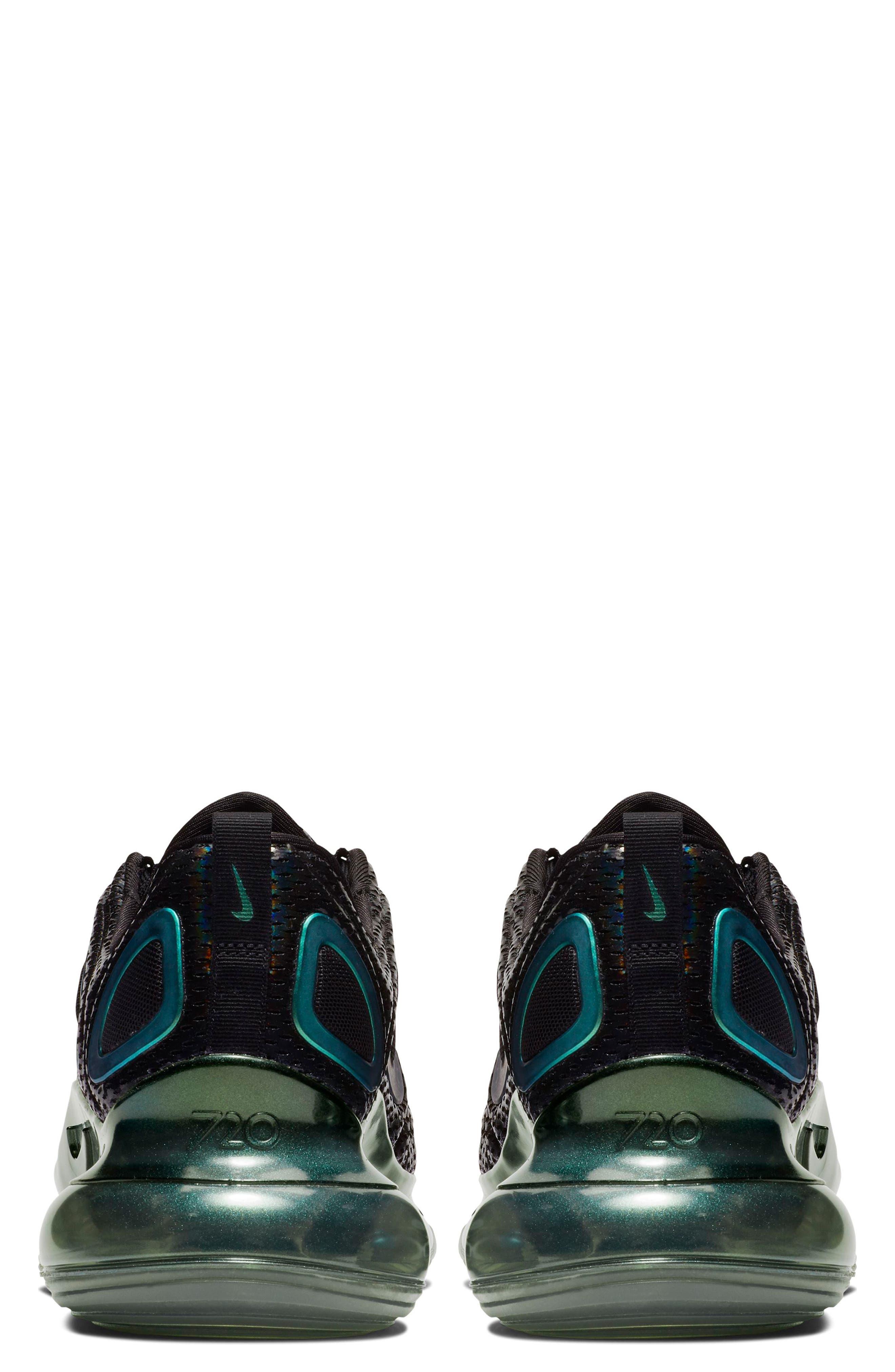NIKE, Air Max 720 Sneaker, Alternate thumbnail 2, color, BLACK/ FUCHSIA/ ANTHRACITE