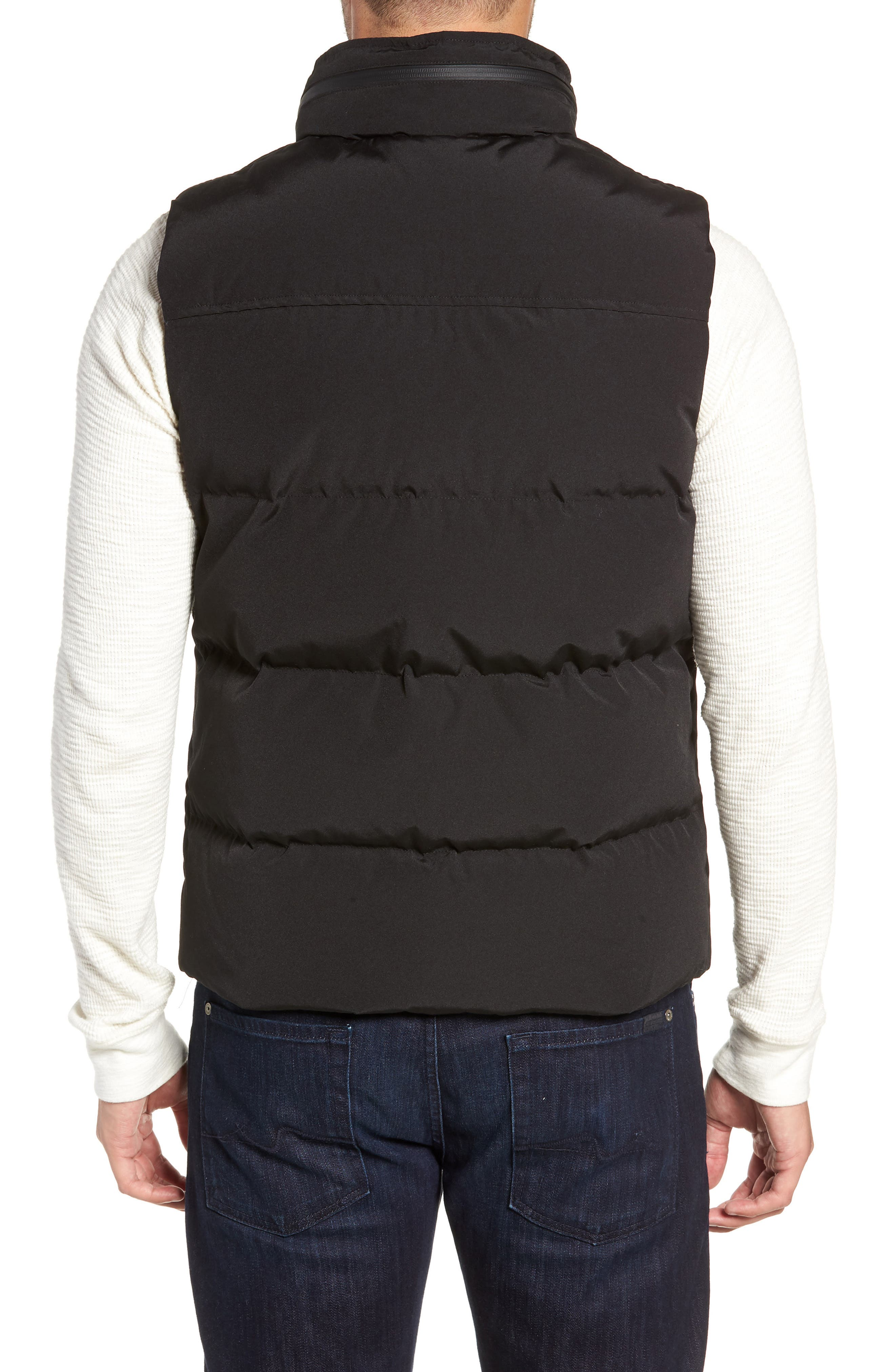 UGG<SUP>®</SUP>, Nathaniel Down Vest, Alternate thumbnail 2, color, BLACK