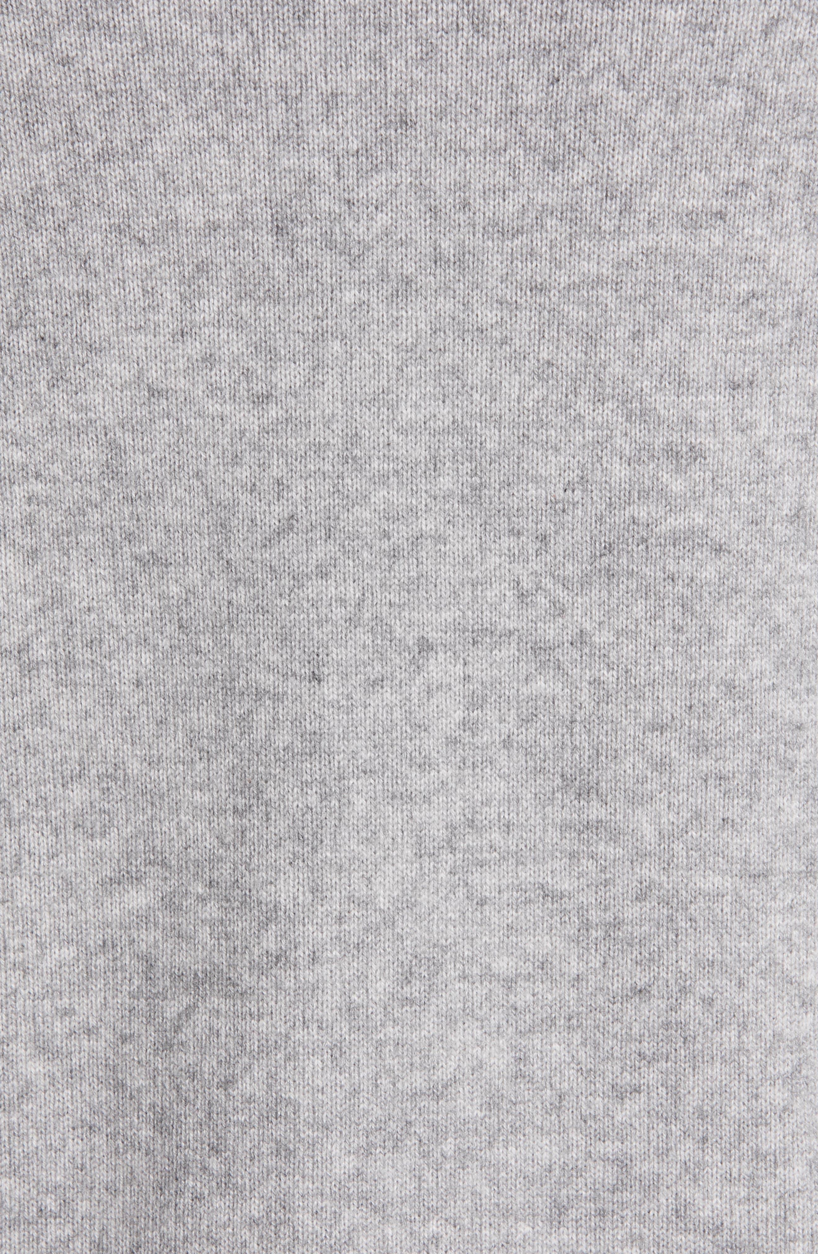VINCE, Wool & Cashmere Cardigan, Alternate thumbnail 5, color, H STEEL