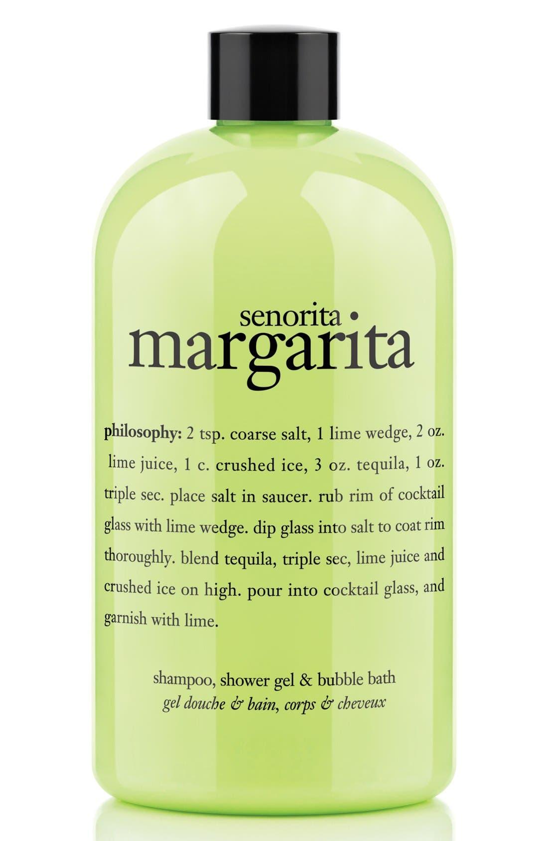 PHILOSOPHY, 'señorita margarita' shampoo, conditioner & body wash, Main thumbnail 1, color, NO COLOR