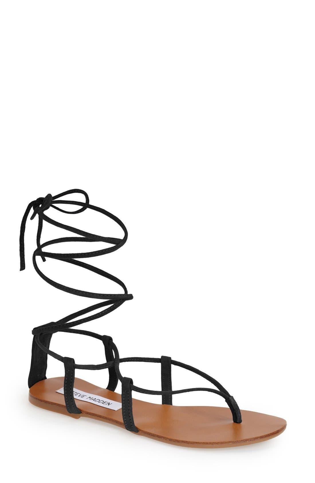 STEVE MADDEN, 'Werkit' Gladiator Sandal, Main thumbnail 1, color, 001