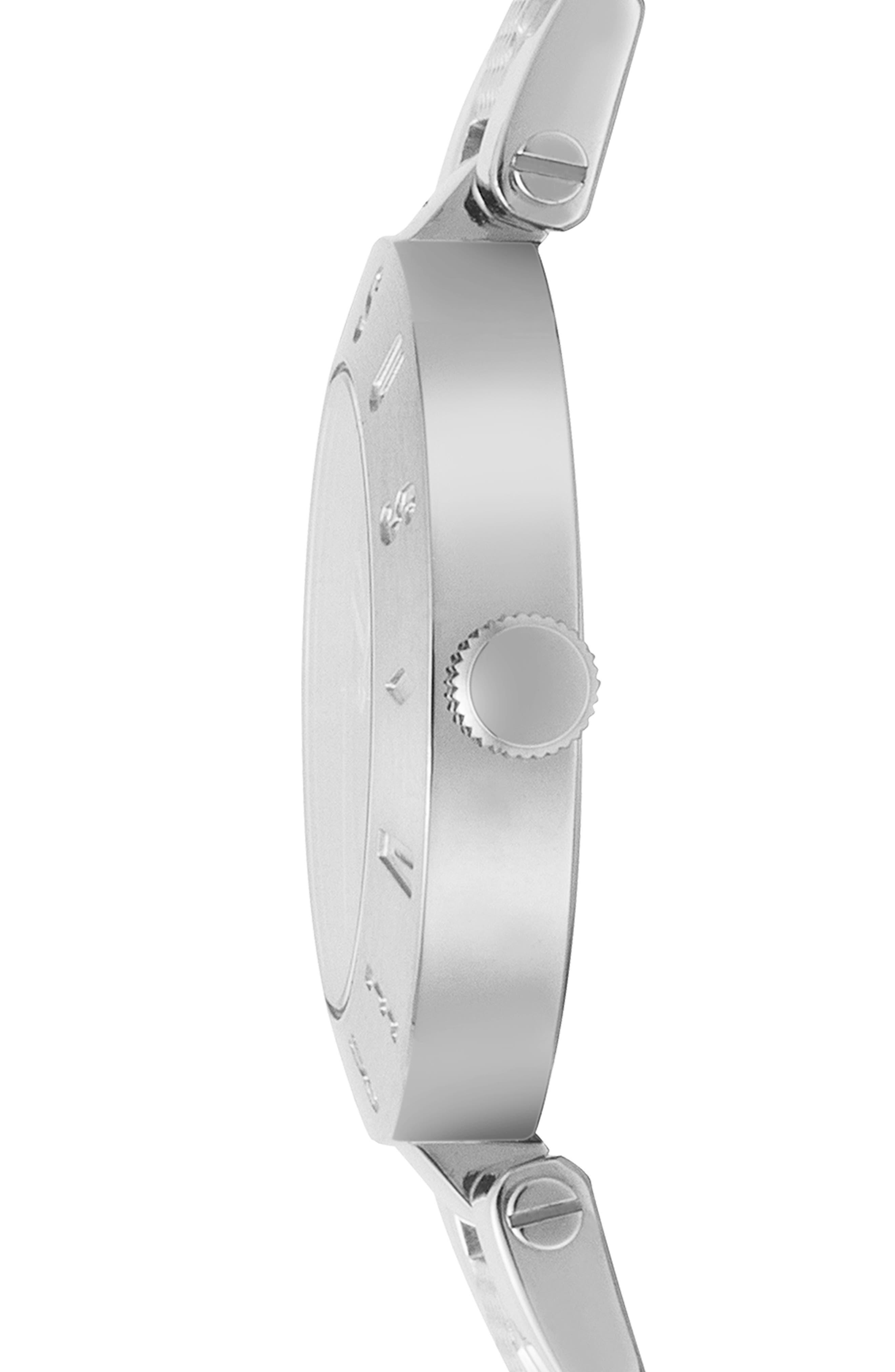 VERSUS VERSACE, Logo Bracelet Watch, 34mm, Alternate thumbnail 2, color, SILVER/ BLUE