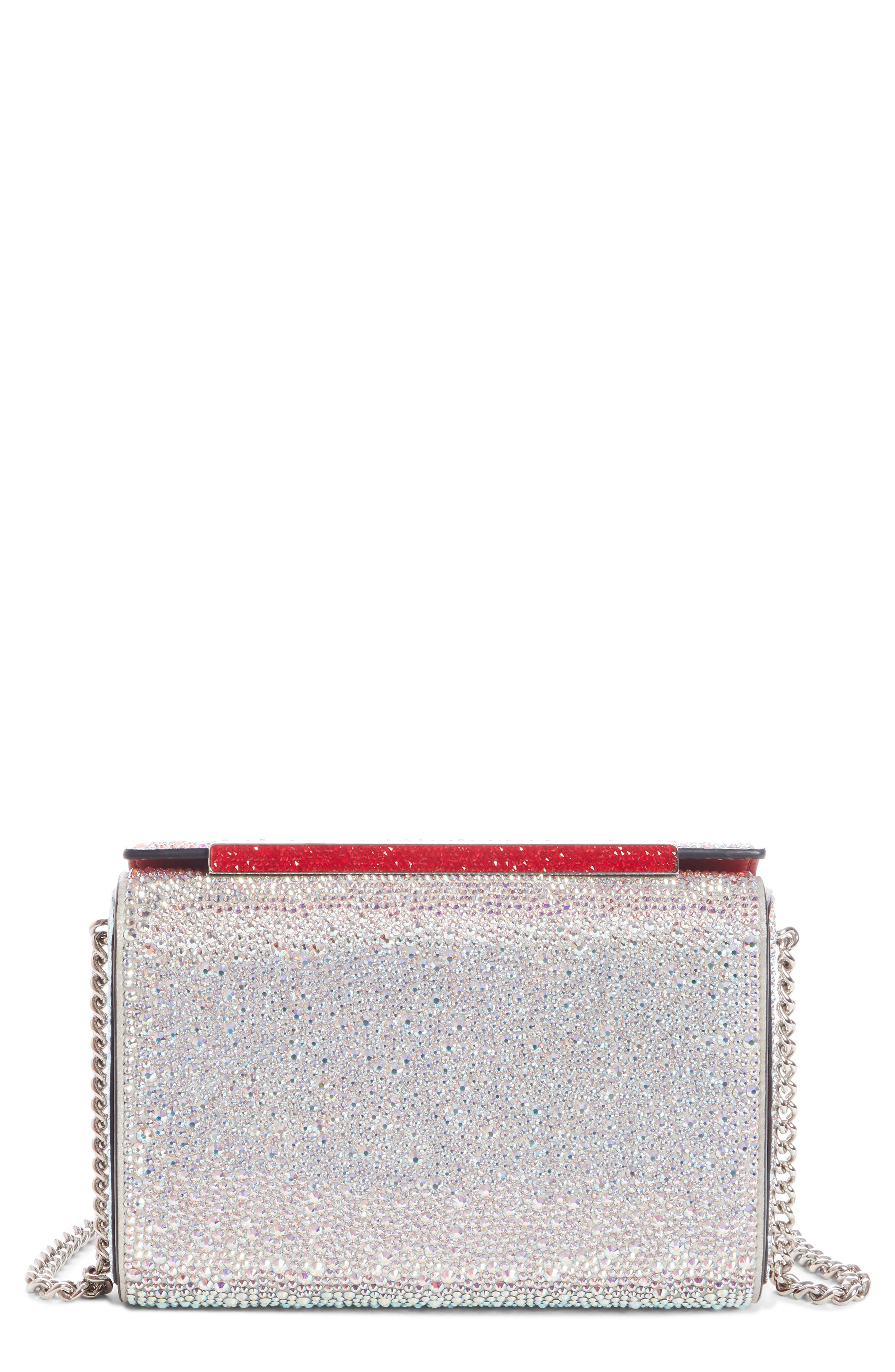 CHRISTIAN LOUBOUTIN, Large Vanite Crystal Embellished Clutch, Main thumbnail 1, color, 045