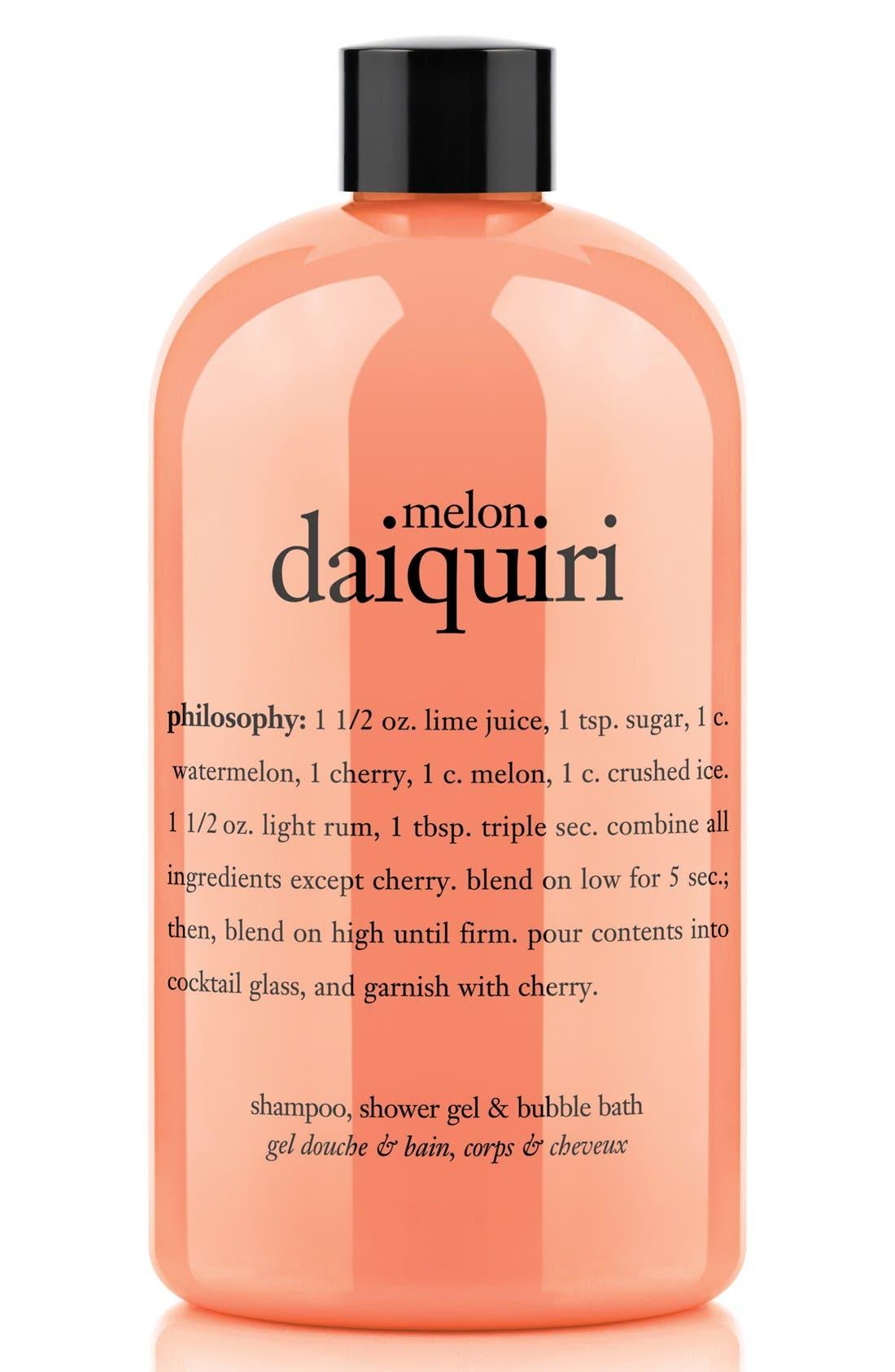 PHILOSOPHY, melon daiquiri shampoo, shower gel & bubble bath, Main thumbnail 1, color, NO COLOR