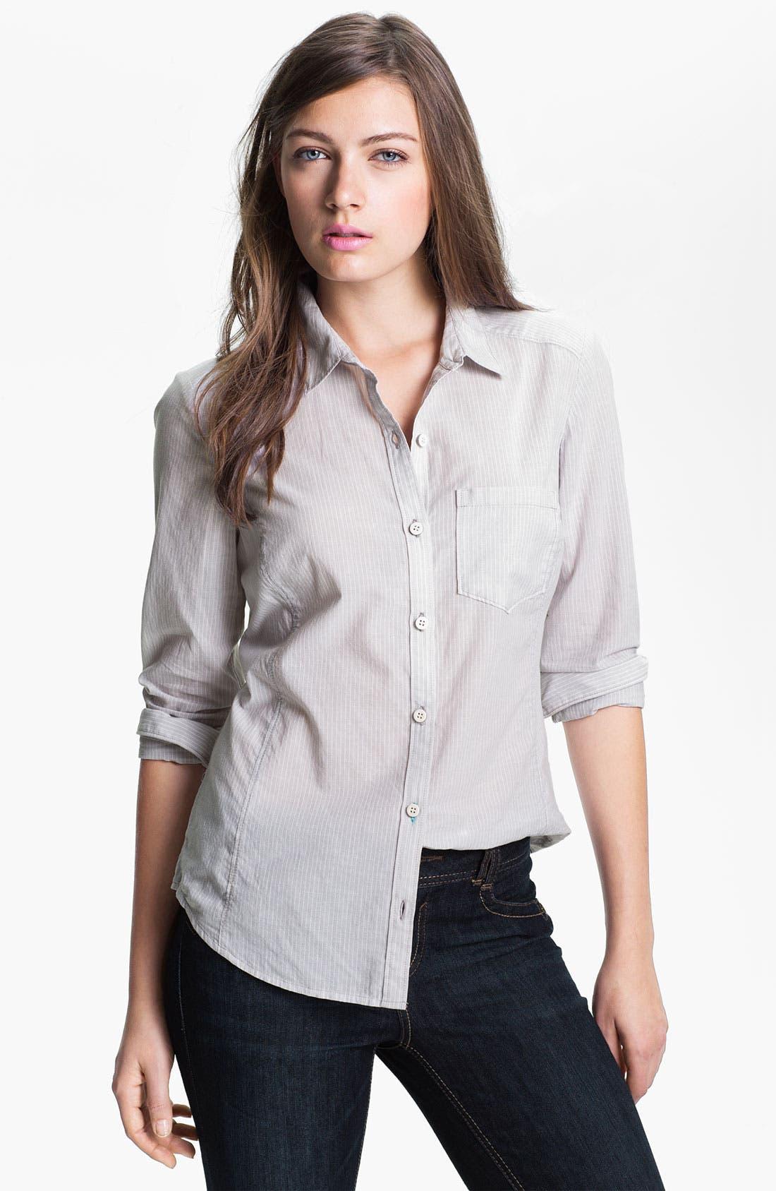 CASLON<SUP>®</SUP>, Long Sleeve Shirt, Main thumbnail 1, color, 020