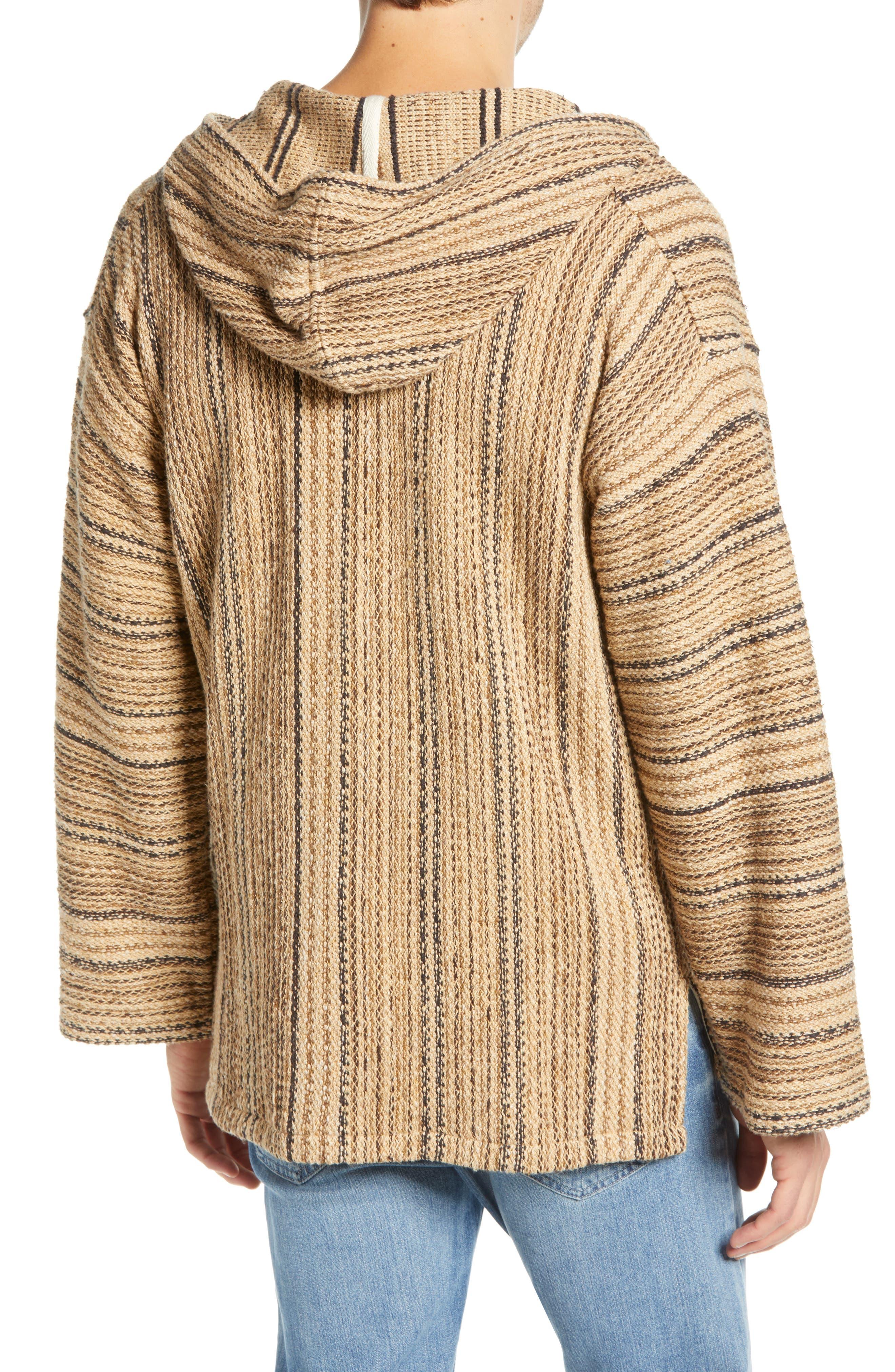 FRYE, Baja Hooded Pullover, Alternate thumbnail 2, color, TAOS TAUPE STRIPE