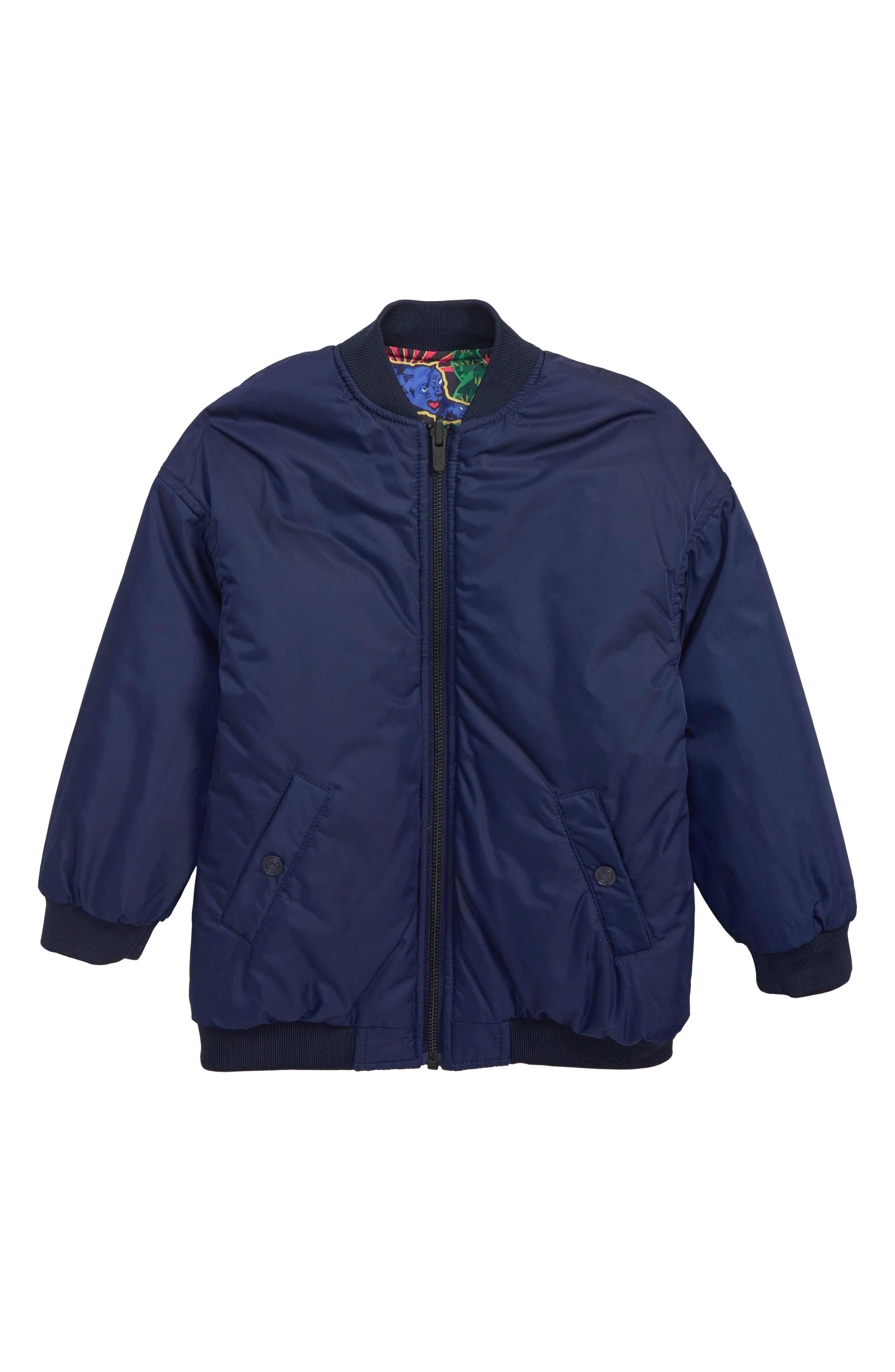 KENZO, Reversible Puffer Jacket, Alternate thumbnail 2, color, NAVY