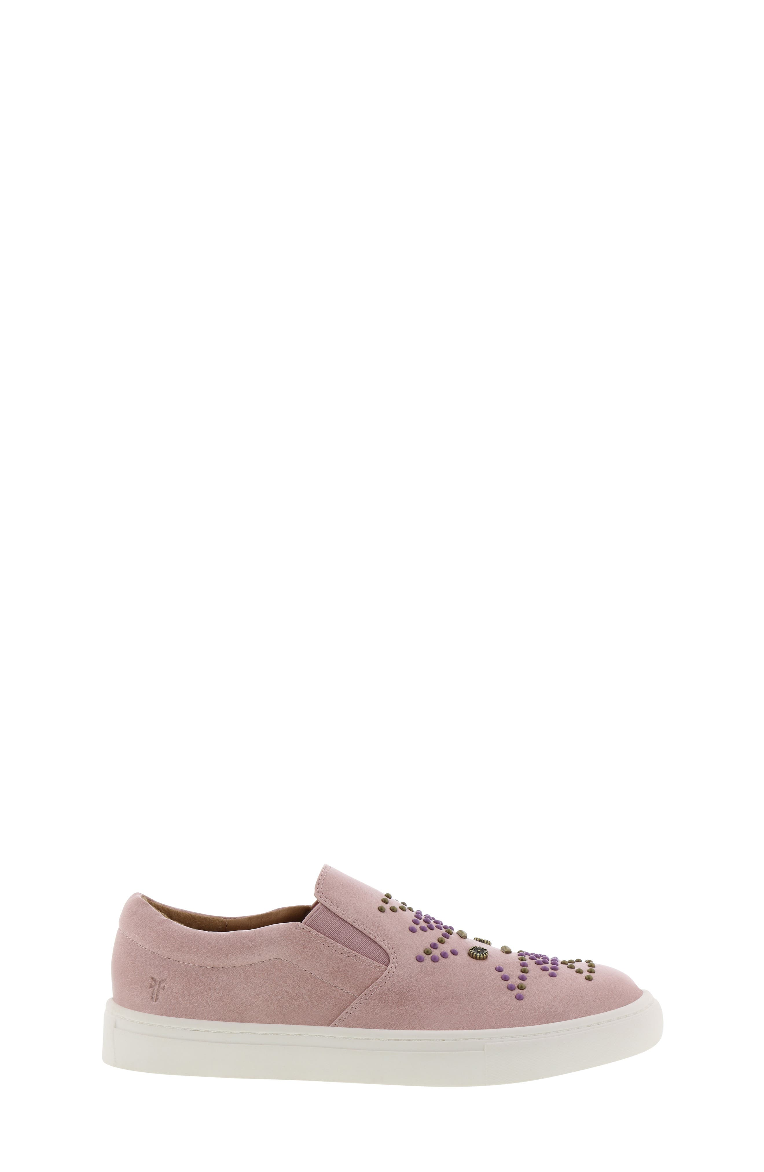 FRYE, Lena Studded Sneaker, Alternate thumbnail 3, color, 686
