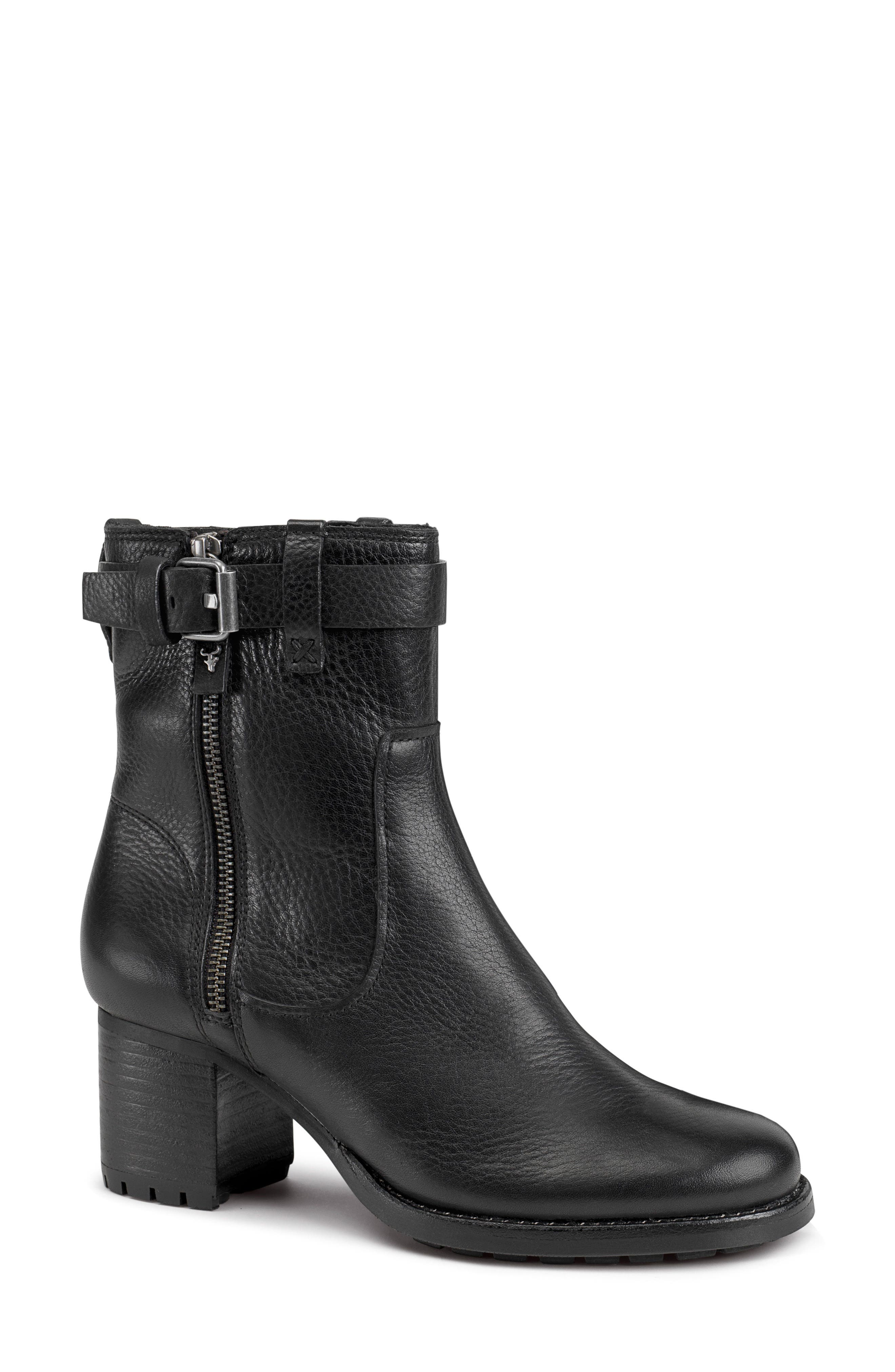 TRASK Madison Waterproof Boot, Main, color, BLACK LEATHER
