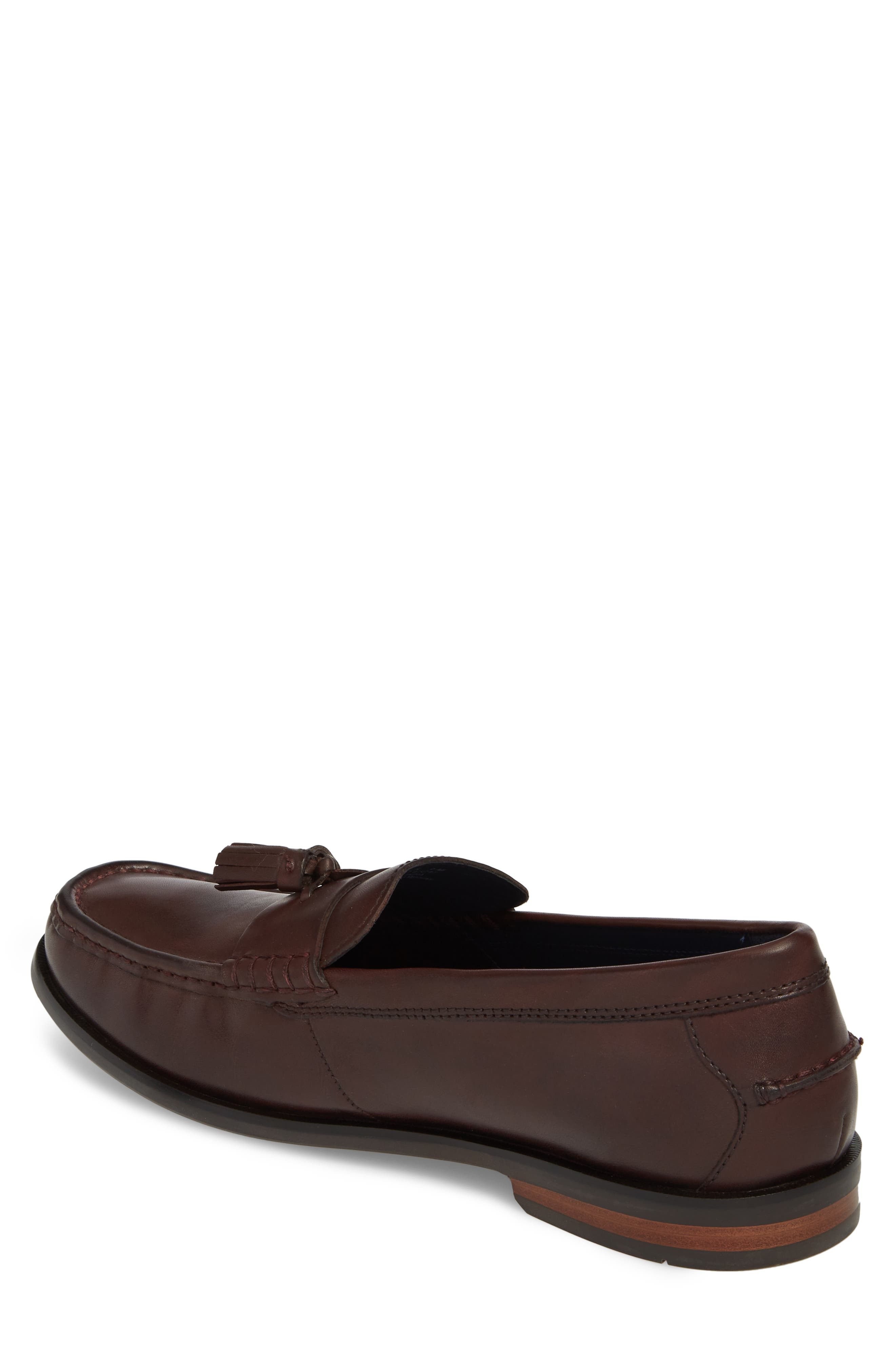 COLE HAAN, Pinch Friday Tassel Loafer, Alternate thumbnail 2, color, BURGUNDY LEATHER