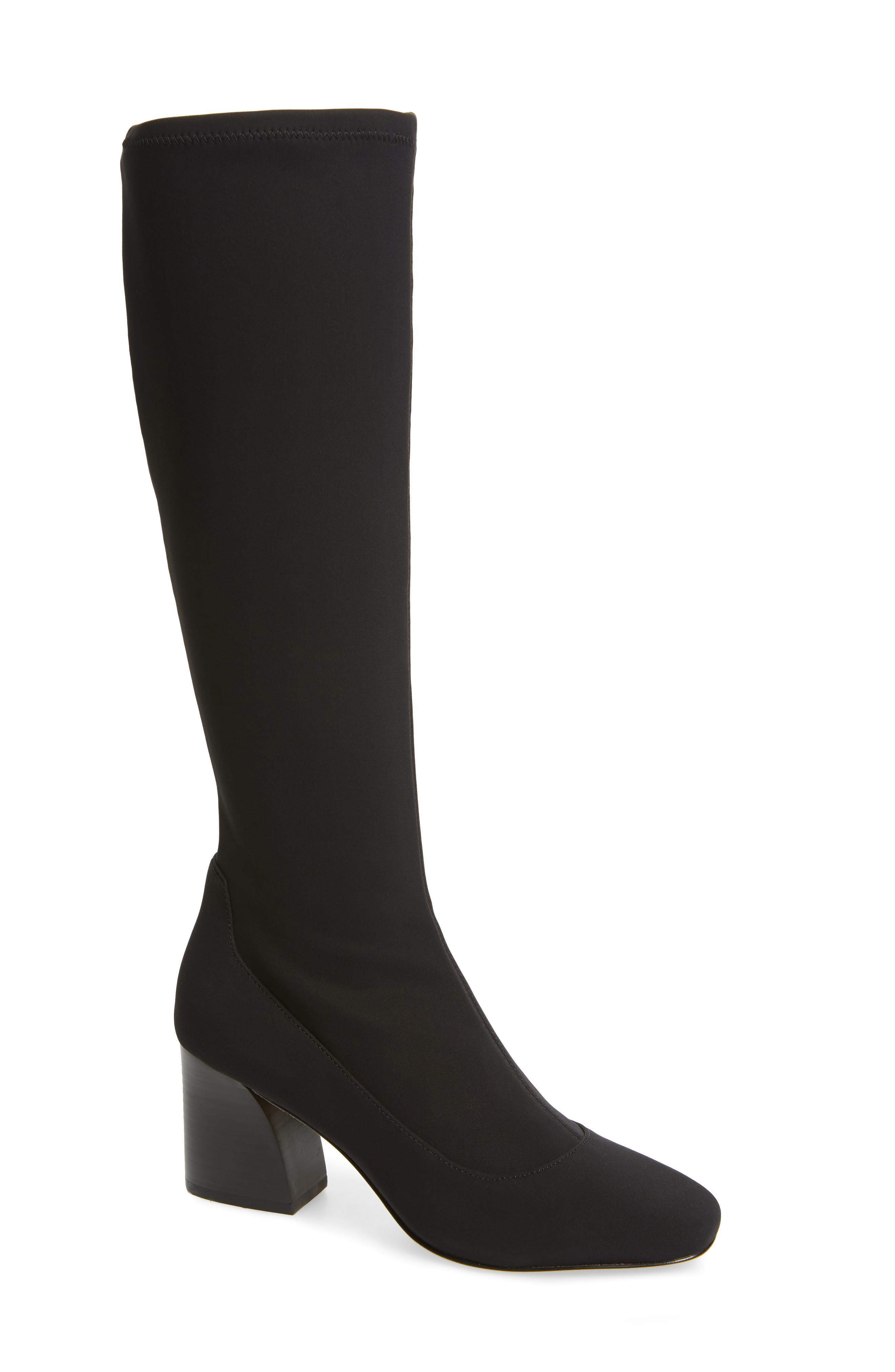 DONALD PLINER Gerti Knee High Stretch Boot, Main, color, 001