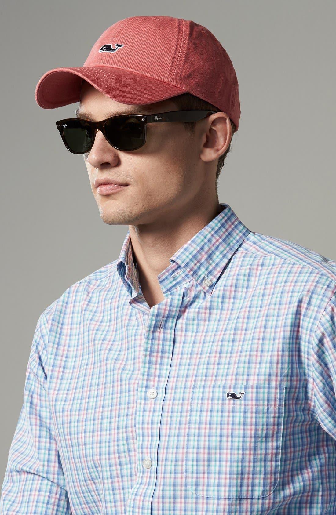 RAY-BAN, 'New Wayfarer' 55mm Sunglasses, Alternate thumbnail 2, color, TORTOISE/ GREEN