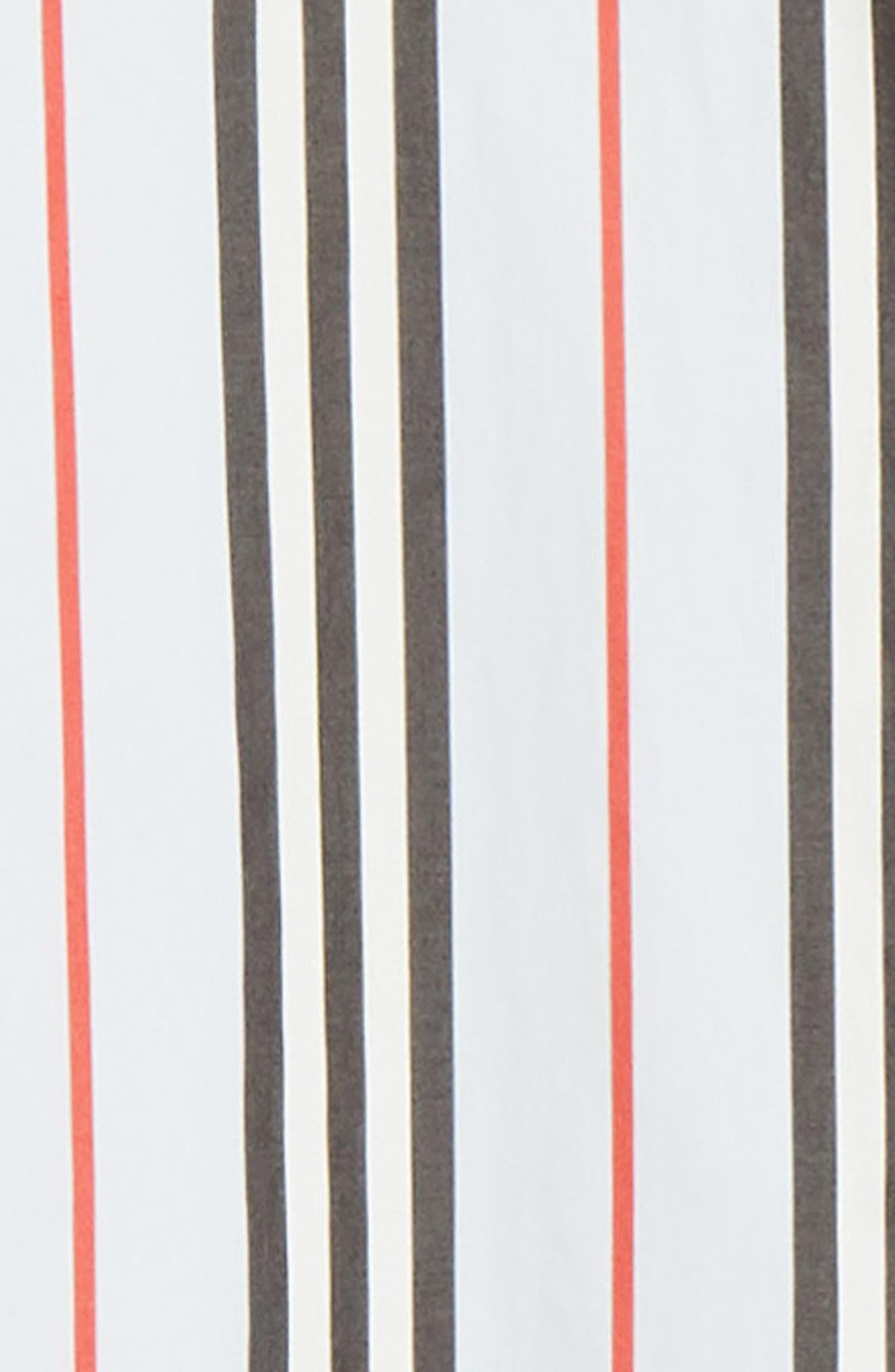 BURBERRY, Icon Stripe Shirt, Alternate thumbnail 6, color, PALE BLUE