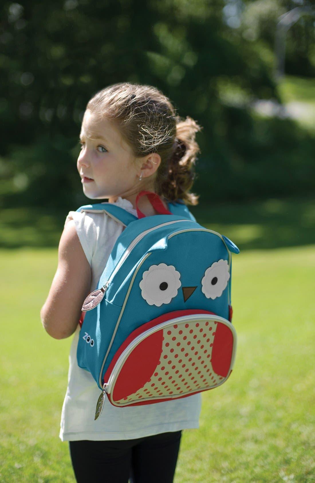SKIP HOP, Owl Zoo Pack Backpack, Alternate thumbnail 6, color, BLUE MULTI