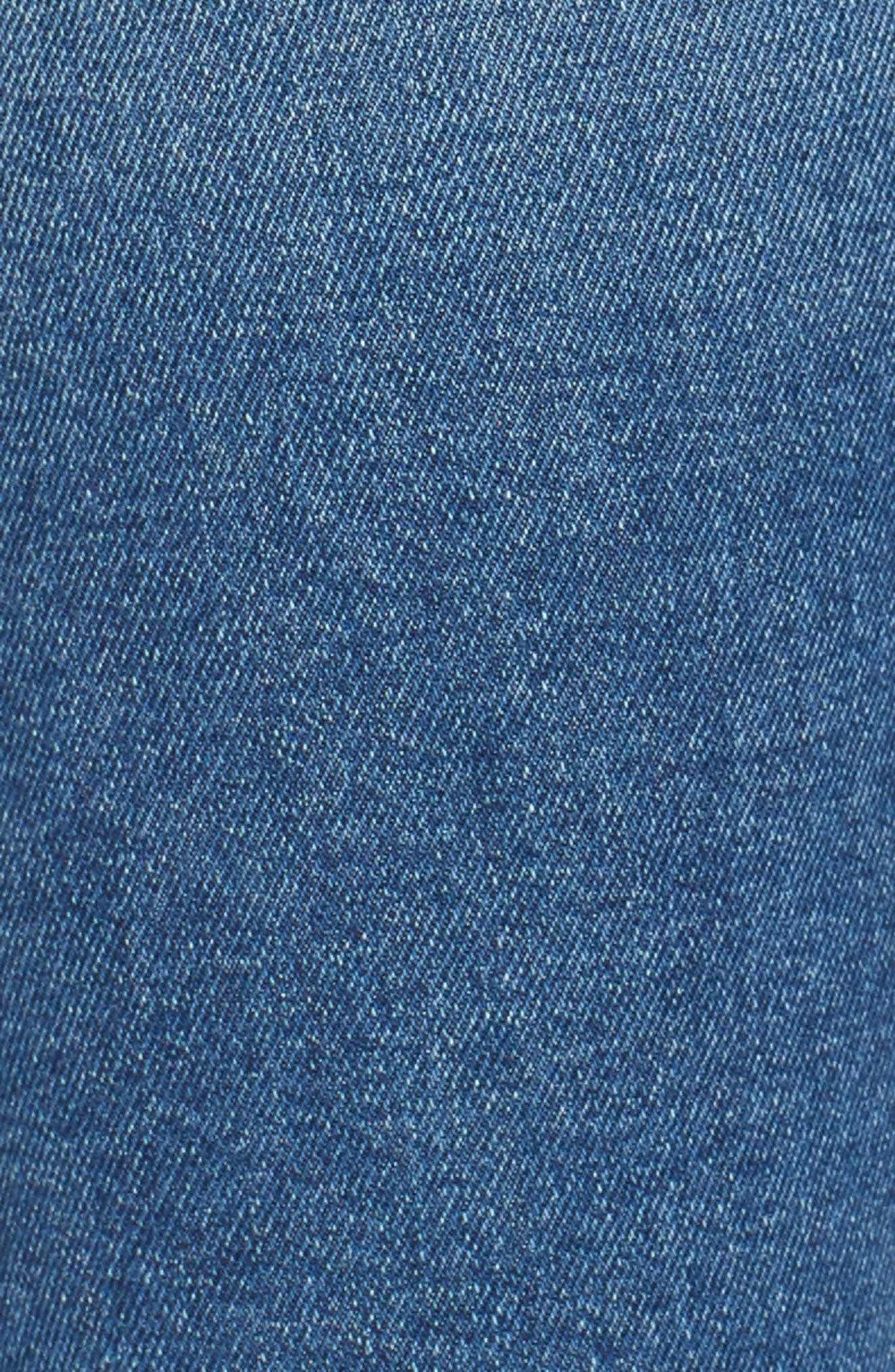 FRAME, Le Skinny de Jeanne High Waist Raw Hem Jeans, Alternate thumbnail 6, color, MCGRATH