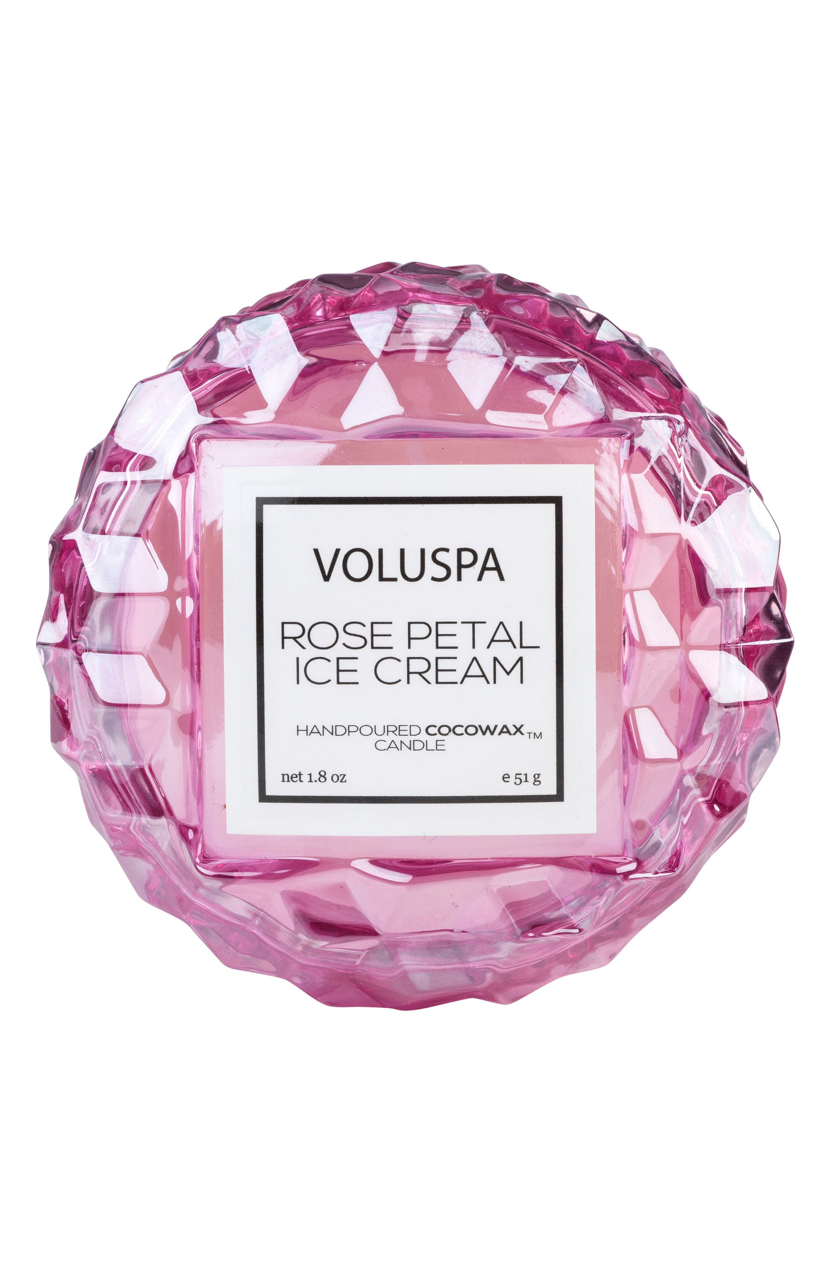 VOLUSPA, Roses Macaron Candle, Main thumbnail 1, color, ROSE PETAL ICE CREAM