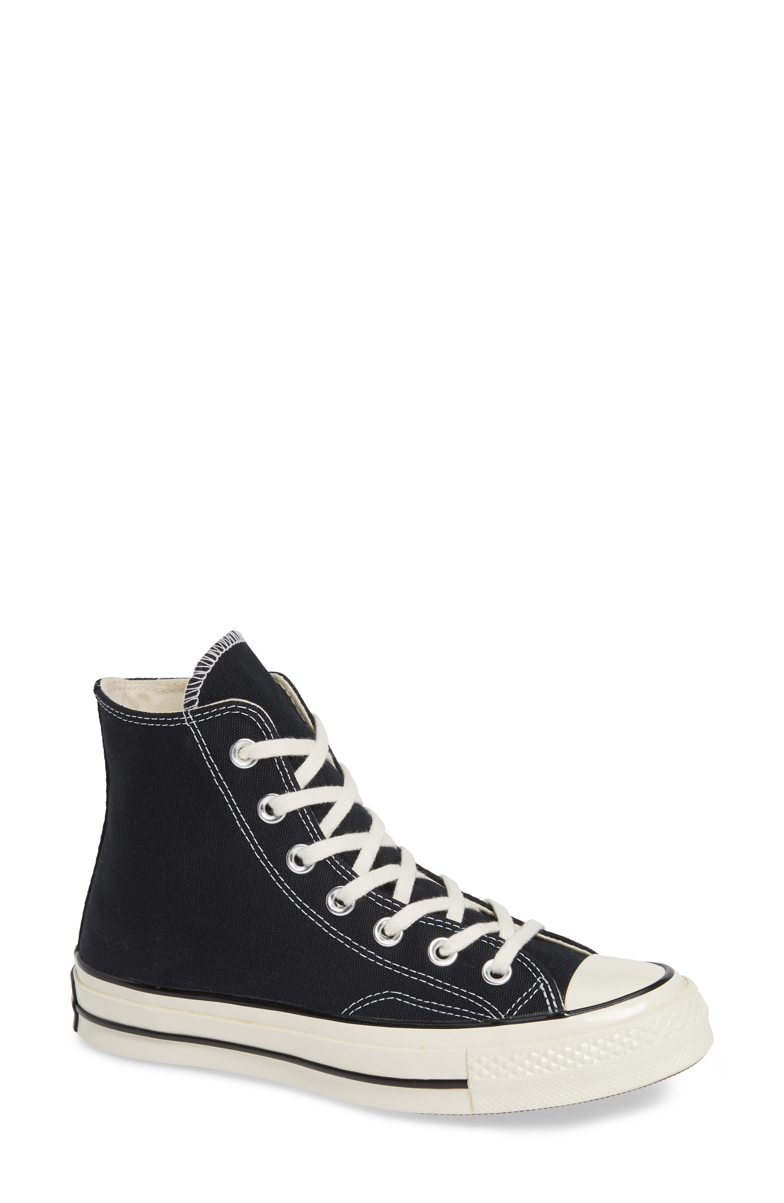 CONVERSE, Chuck Taylor<sup>®</sup> All Star<sup>®</sup> Chuck 70 High Top Sneaker, Main thumbnail 1, color, BLACK