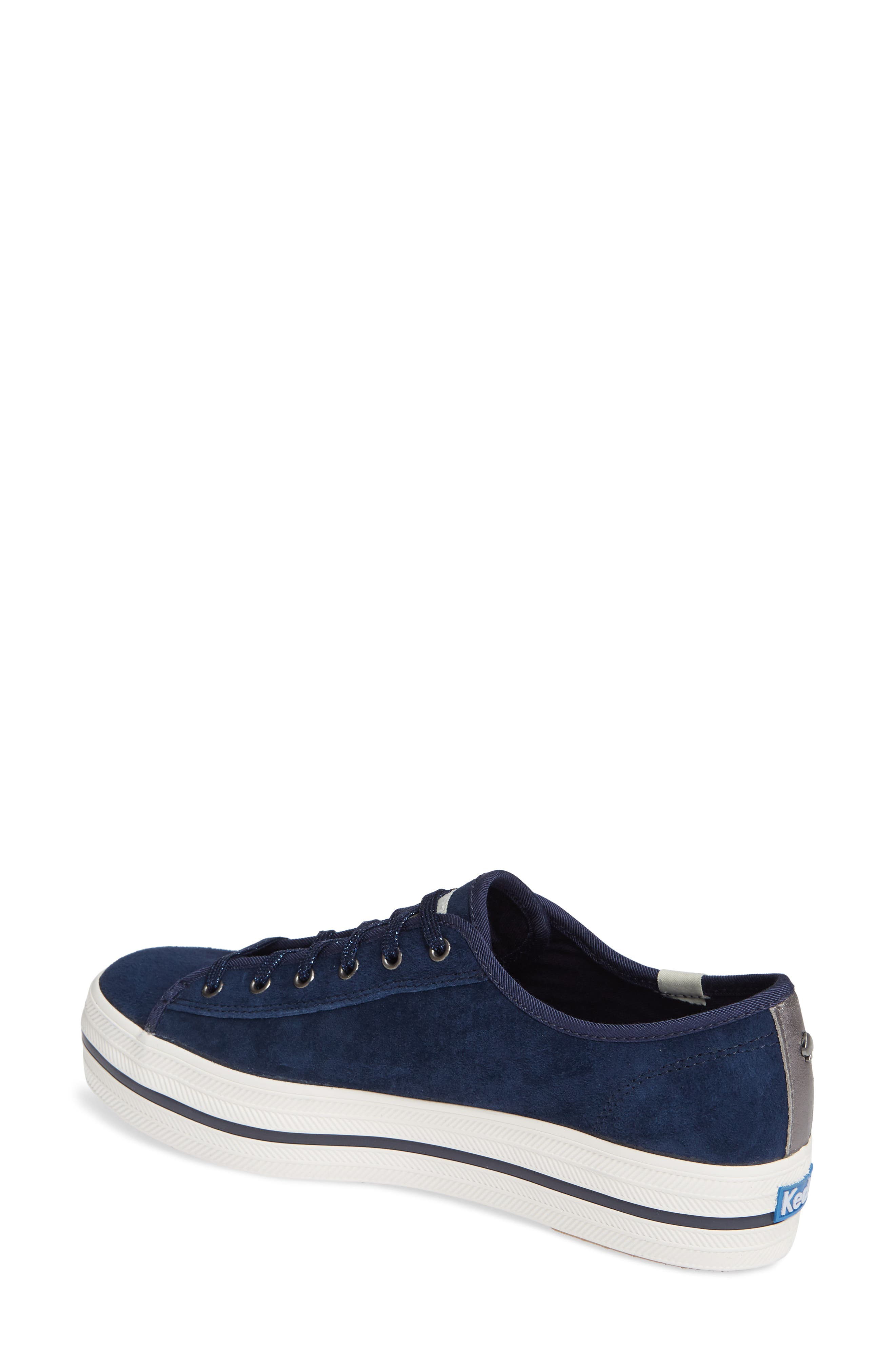 KEDS<SUP>®</SUP> FOR KATE SPADE NEW YORK, Keds<sup>®</sup> x kate spade new york triple kicks platform sneaker, Alternate thumbnail 2, color, NAVY SUEDE