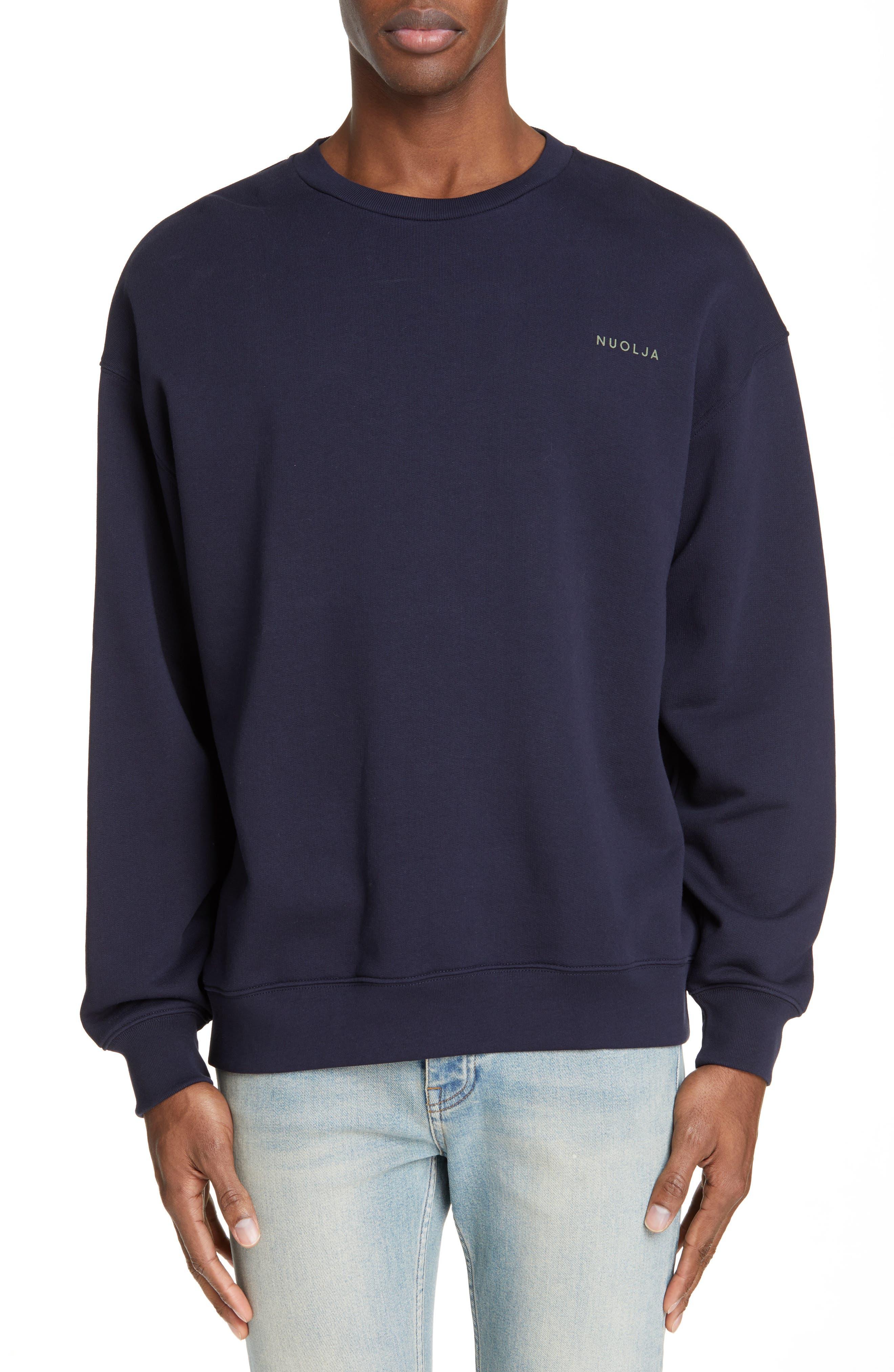 ACNE STUDIOS Forba Sweden Graphic Sweatshirt, Main, color, NAVY