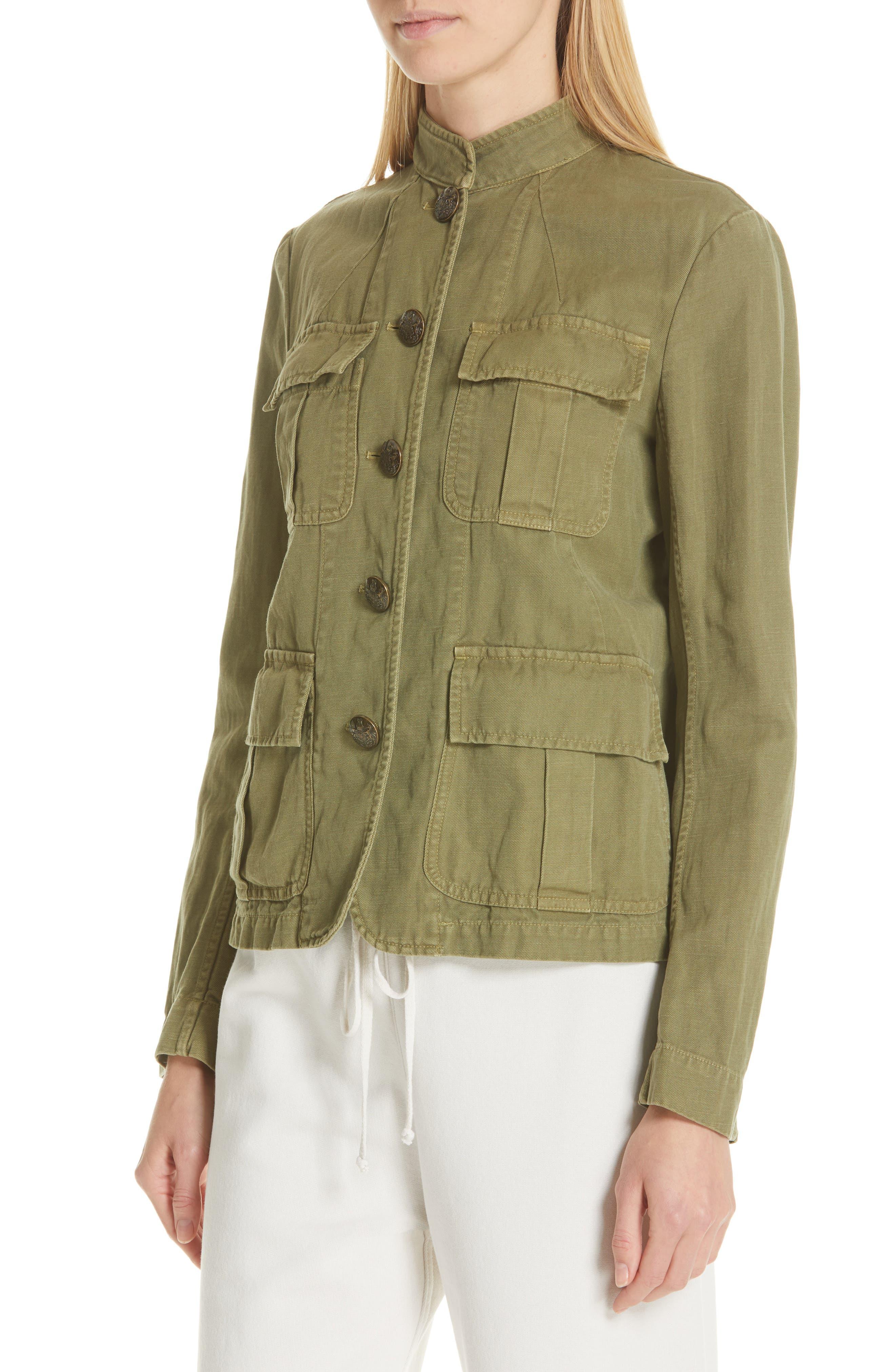 NILI LOTAN, Cambre Jacket, Alternate thumbnail 5, color, UNIFORM GREEN